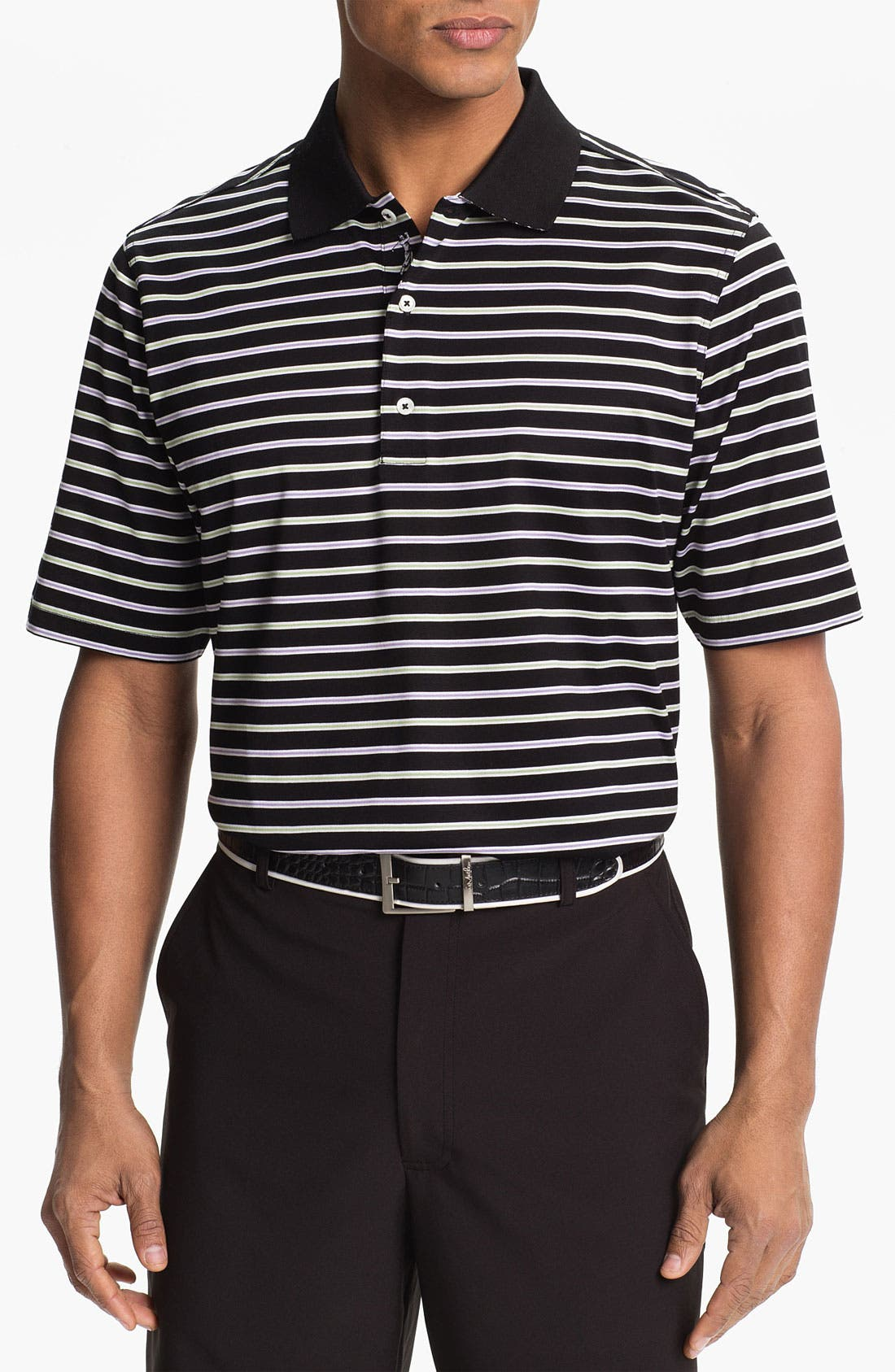 Main Image - Bobby Jones 'Framed Bar Stripe' Polo