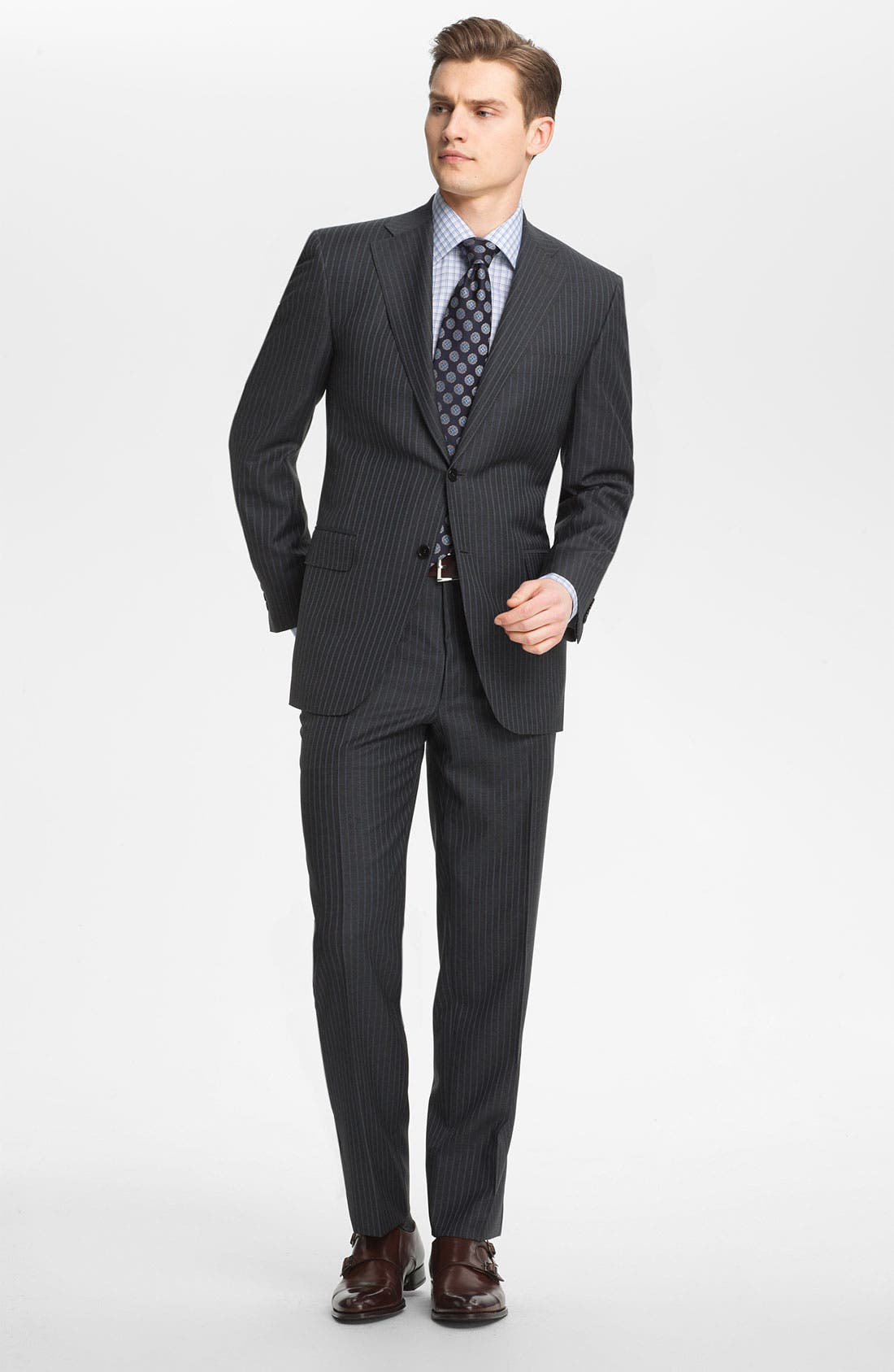 Alternate Image 2  - Canali Stripe Wool Suit