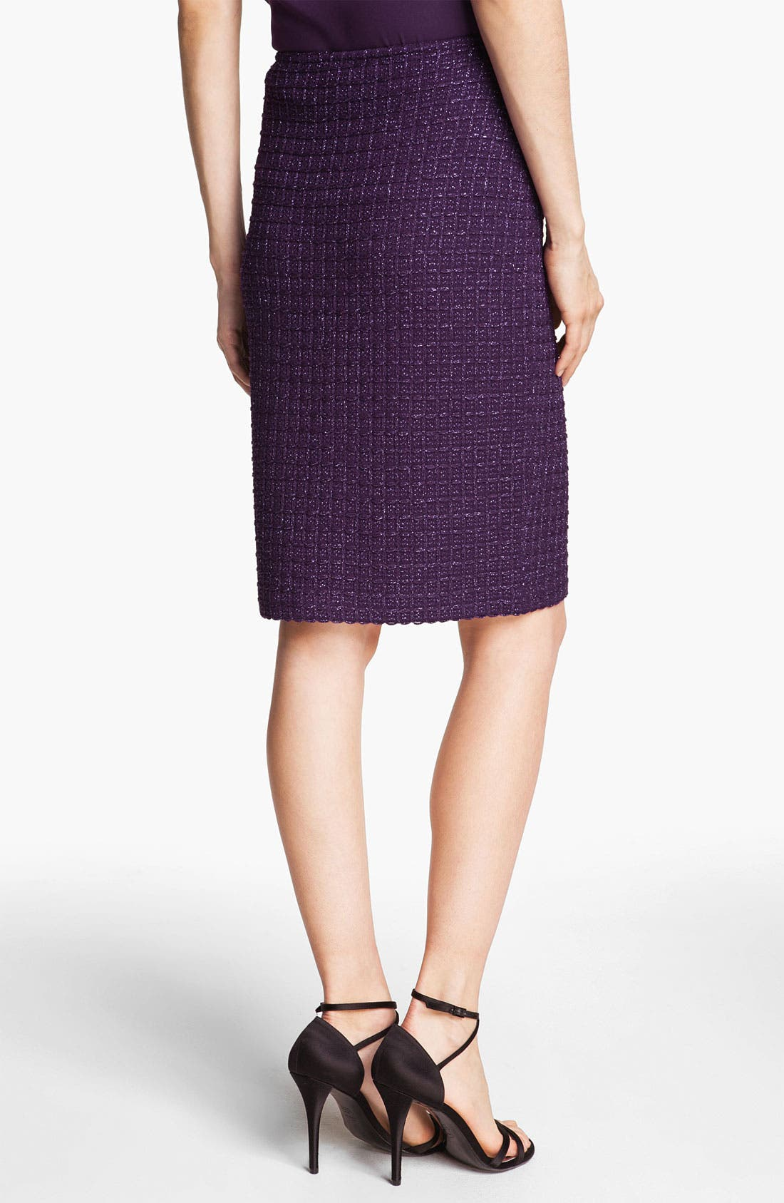 Alternate Image 2  - St. John Collection Shimmer Tweed Pencil Skirt