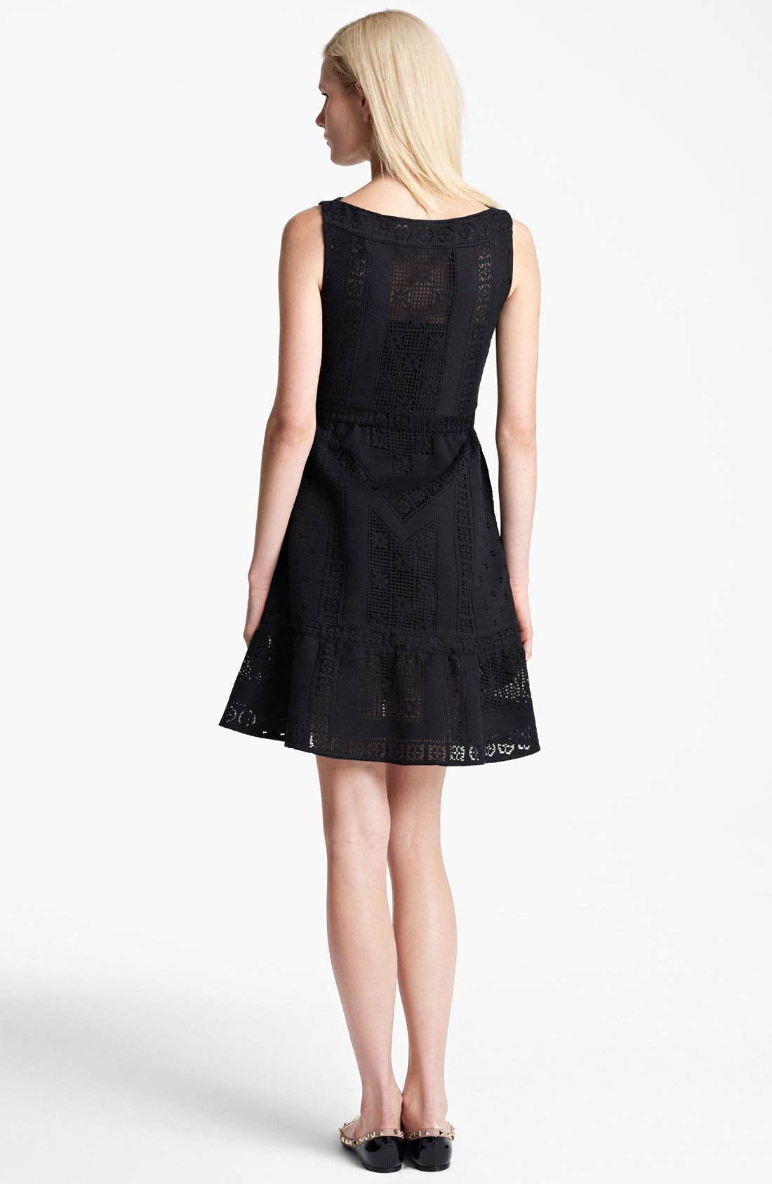 Alternate Image 2  - Valentino Sleeveless Lace Dress