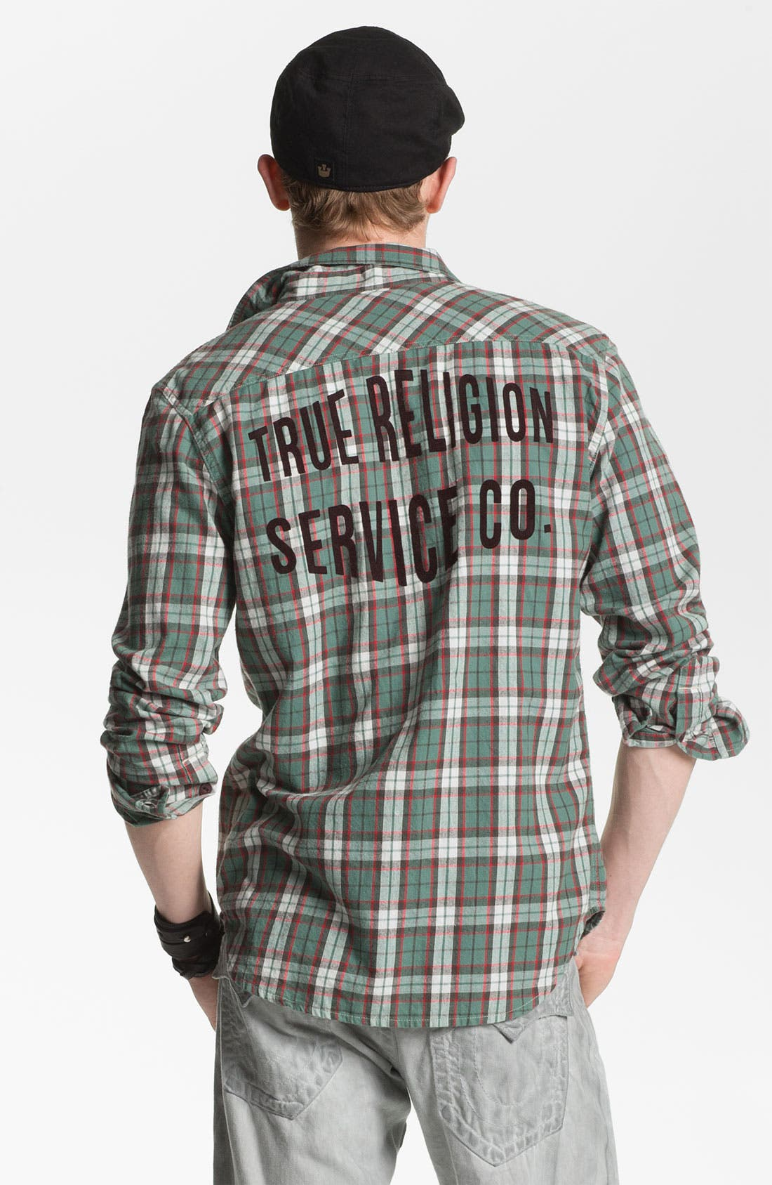 Alternate Image 2  - True Religion Brand Jeans 'Service' Plaid Flannel Shirt