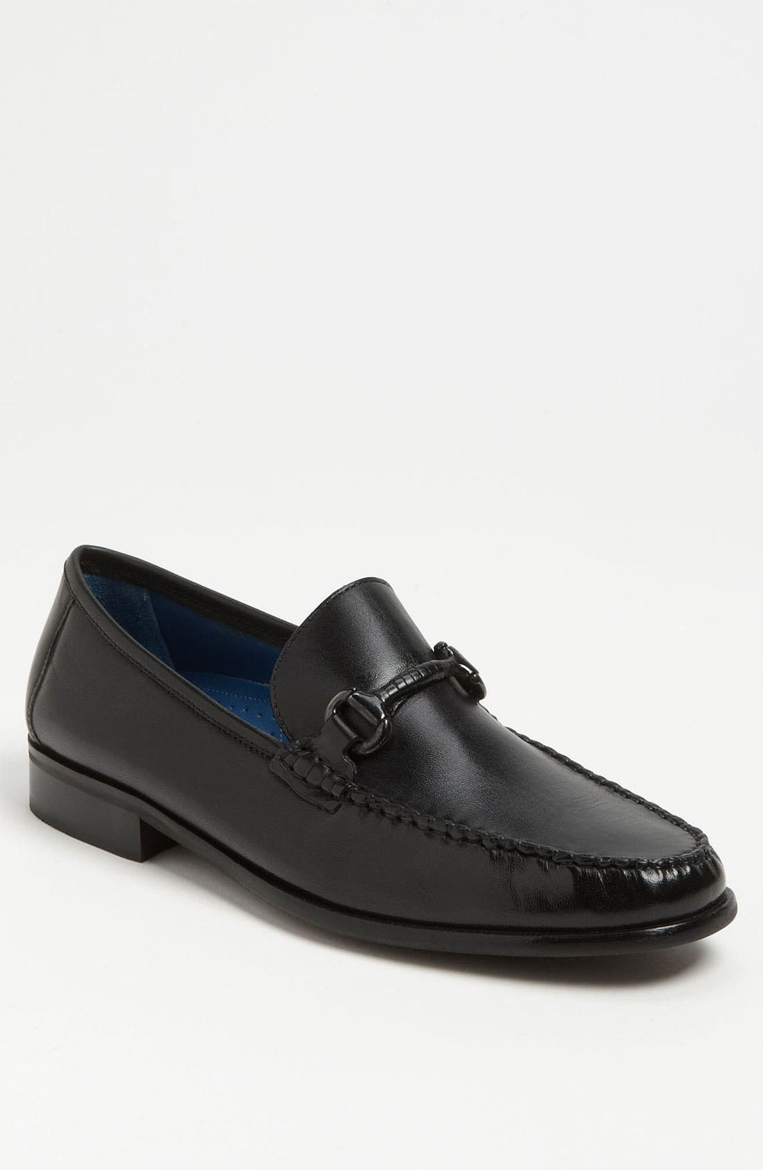 'Sarasota' Bit Loafer,                             Main thumbnail 1, color,                             Black Smooth