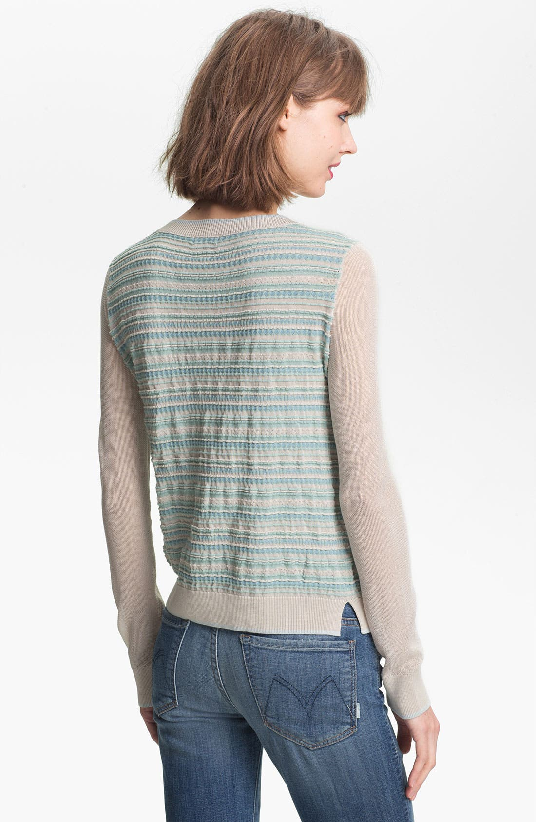 Alternate Image 2  - Hinge Pucker Stripe Cardigan