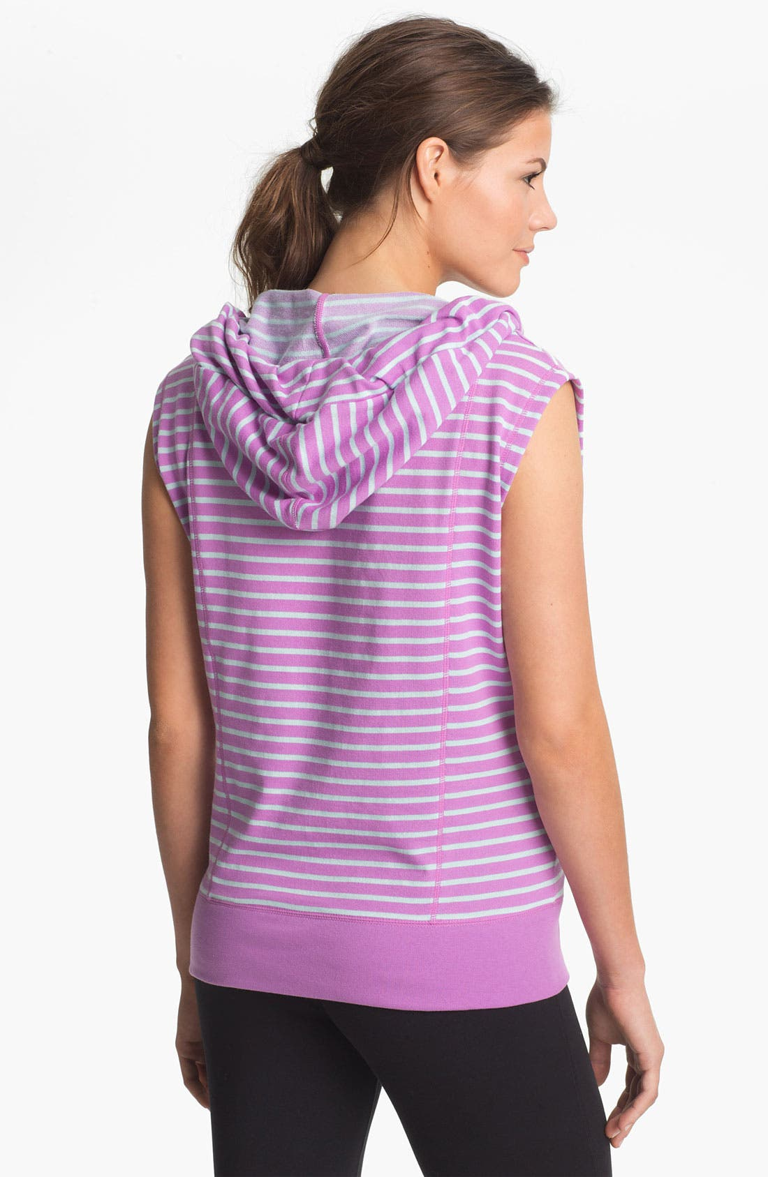 Alternate Image 2  - Unit-Y 'Cross Hook' Stripe Hooded Pullover