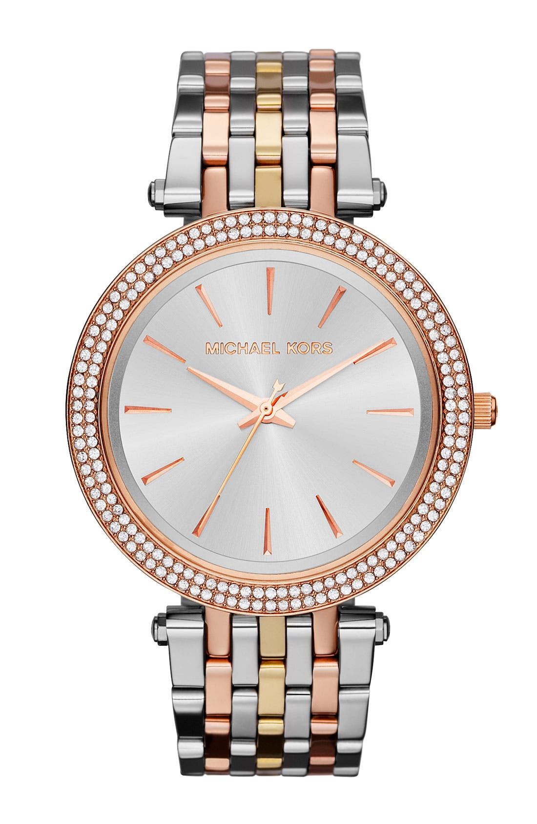 'Darci' Round Bracelet Watch, 39mm,                         Main,                         color, Tri Tone