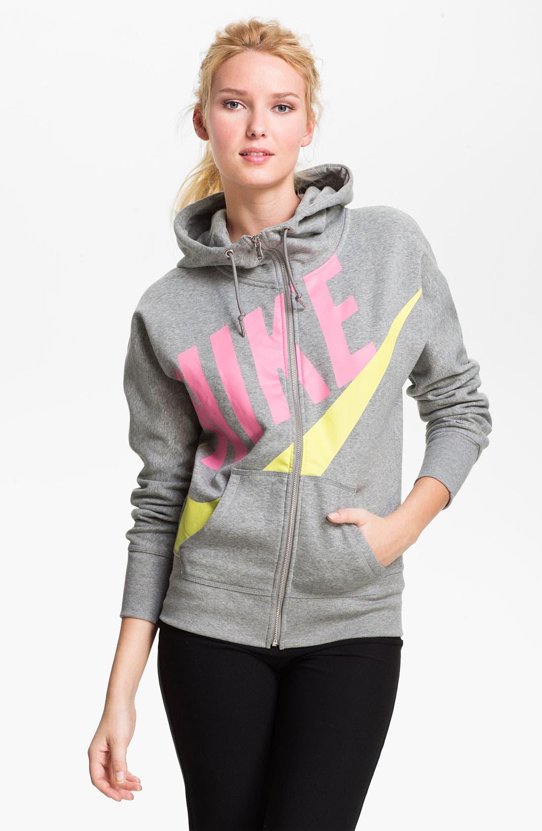 Alternate Image 1 Selected - Nike Graphic Full Zip Hoodie