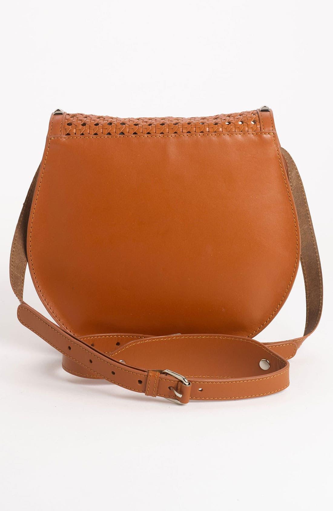 Alternate Image 4  - Rebecca Minkoff 'Skylar - Wicker Woven' Leather Crossbody Bag