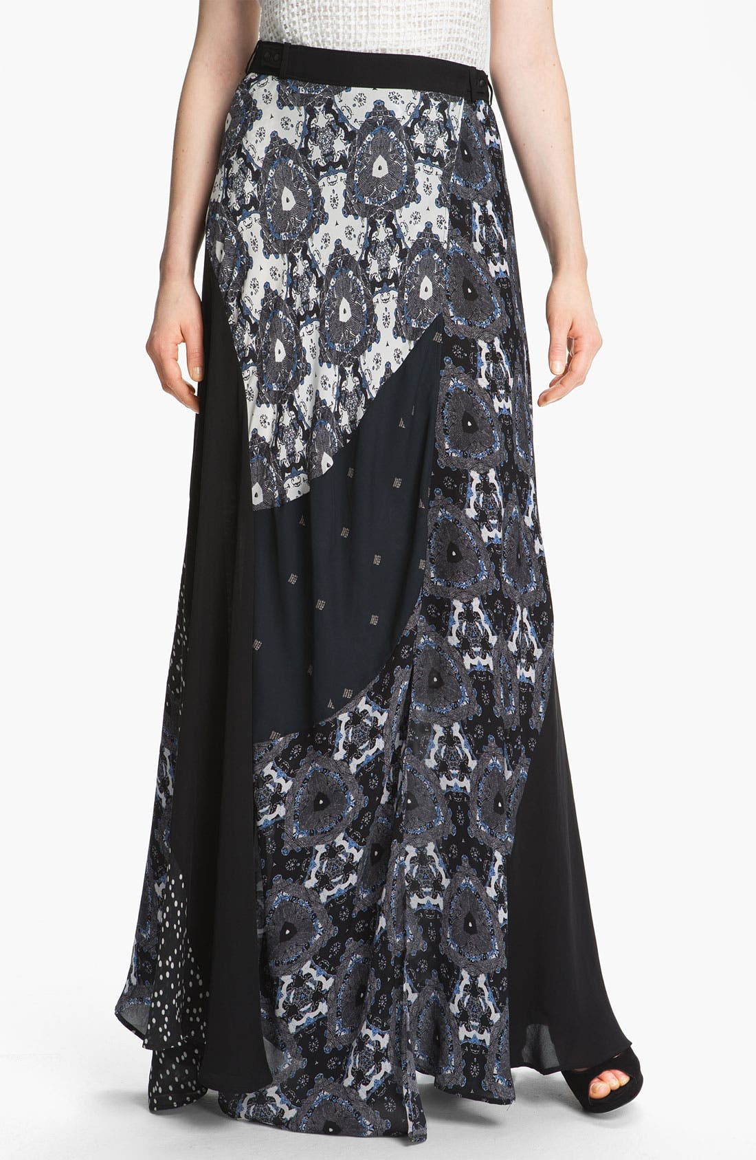 Alternate Image 1 Selected - A.L.C. 'Brixton' Silk Wrap Skirt