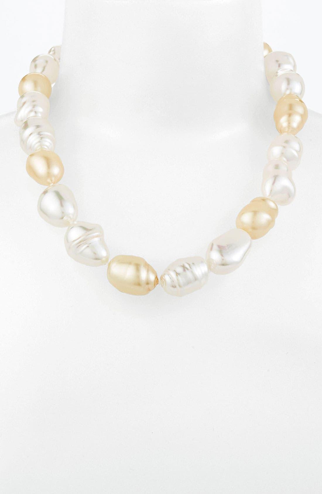 Main Image - Majorica Baroque Pearl Necklace