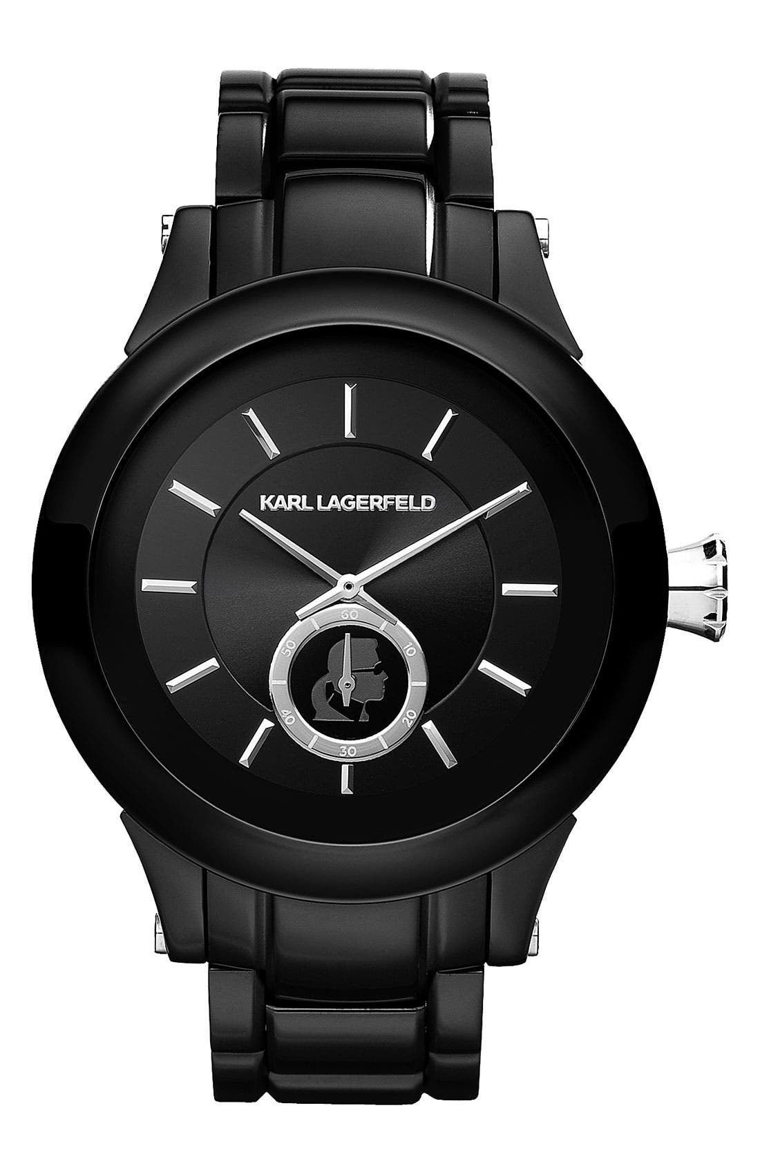 Alternate Image 1 Selected - KARL LAGERFELD Chain Detail Bracelet Watch, 44mm