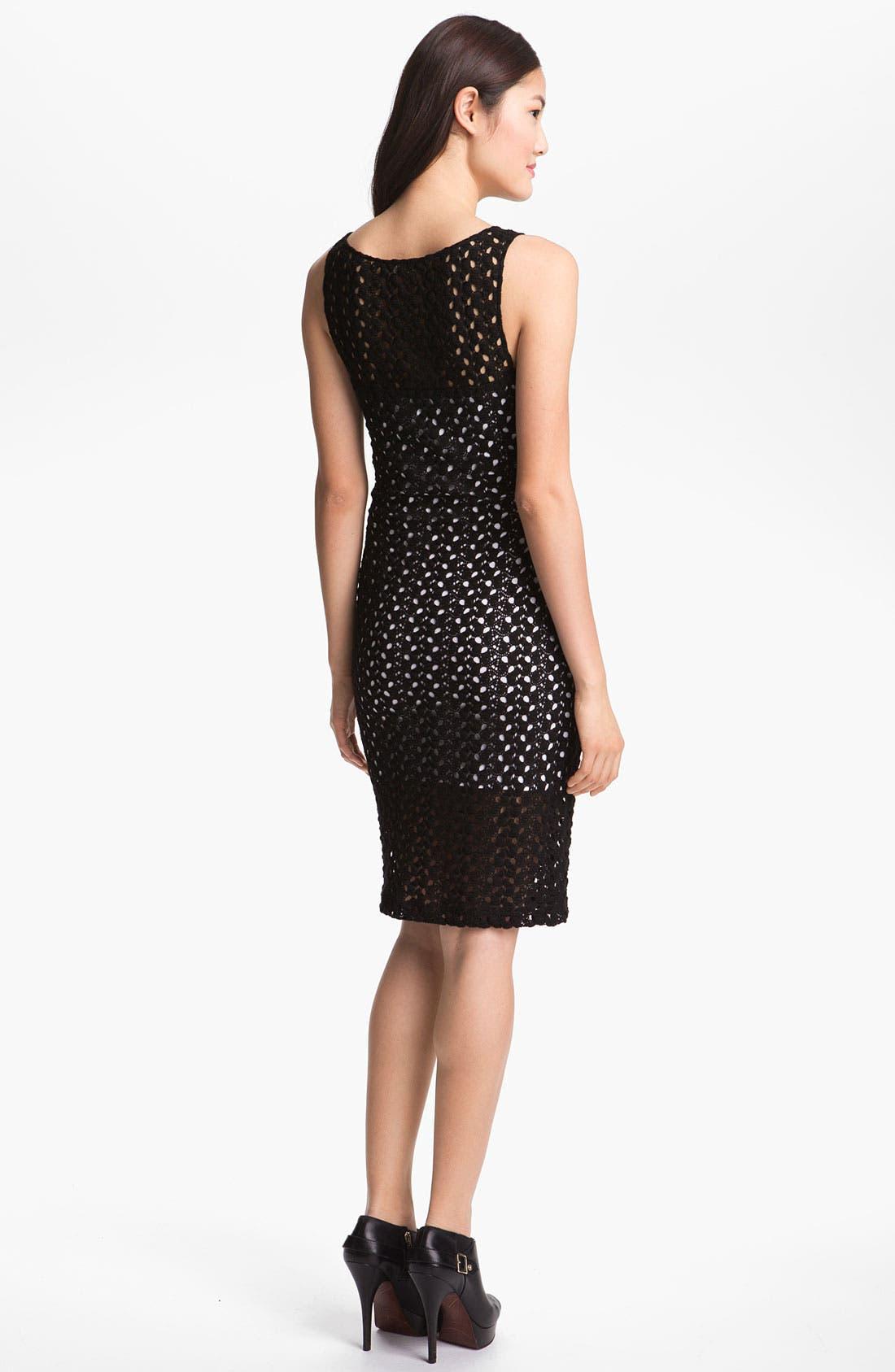 Alternate Image 2  - Black Halo 'Marianne' Crochet Lace Sheath Dress