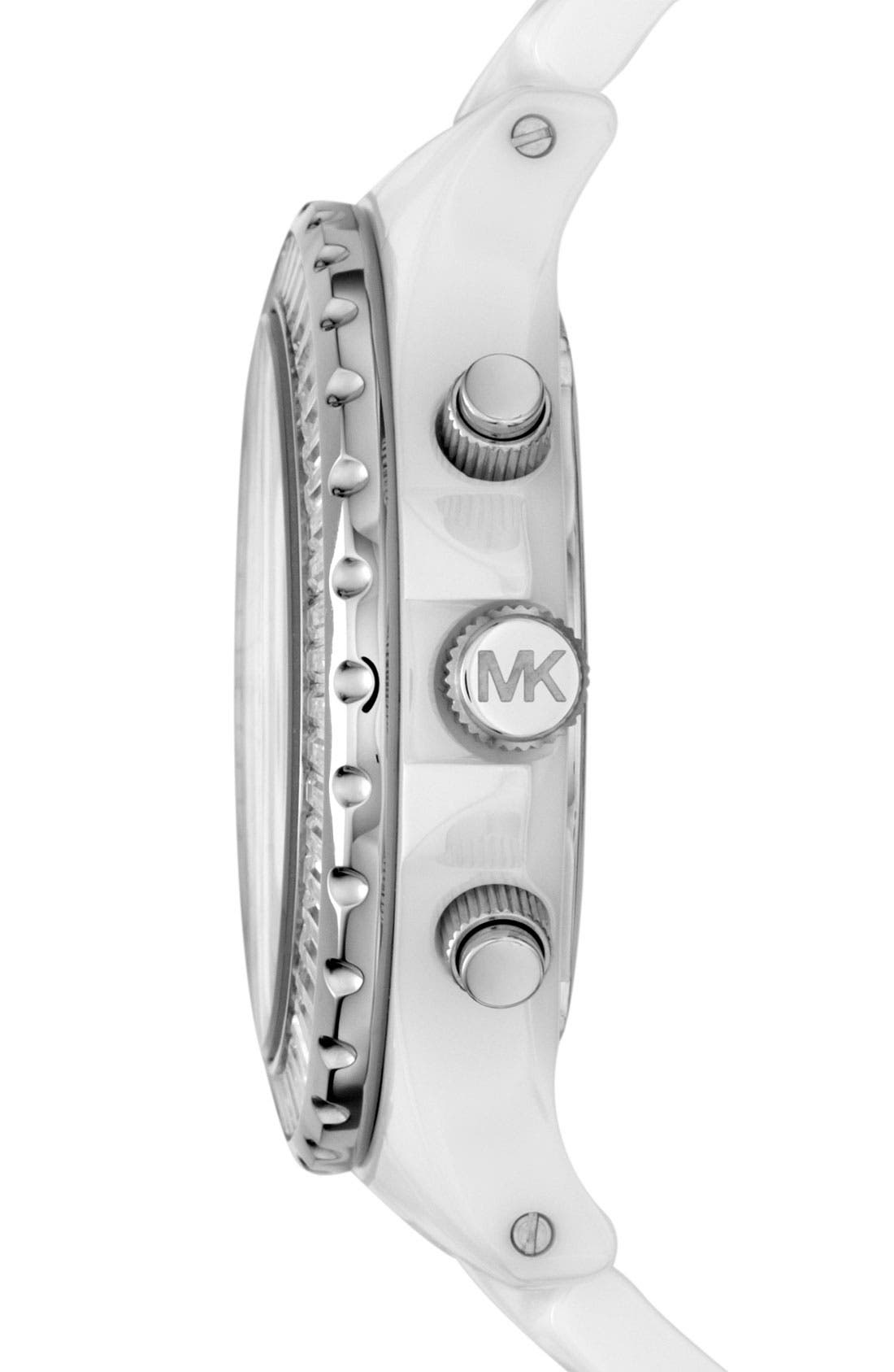 Alternate Image 2  - Michael Kors 'Madison' Crystal Bezel Ceramic Watch, 41mm