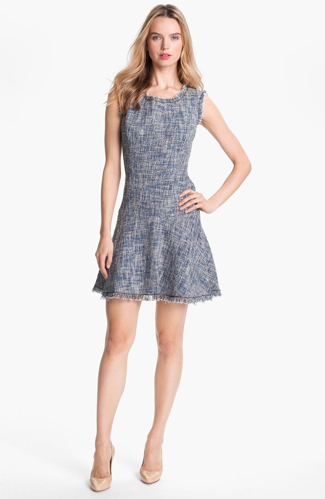 Alternate Image 1 Selected - Rebecca Taylor Woven Fit & Flare Dress