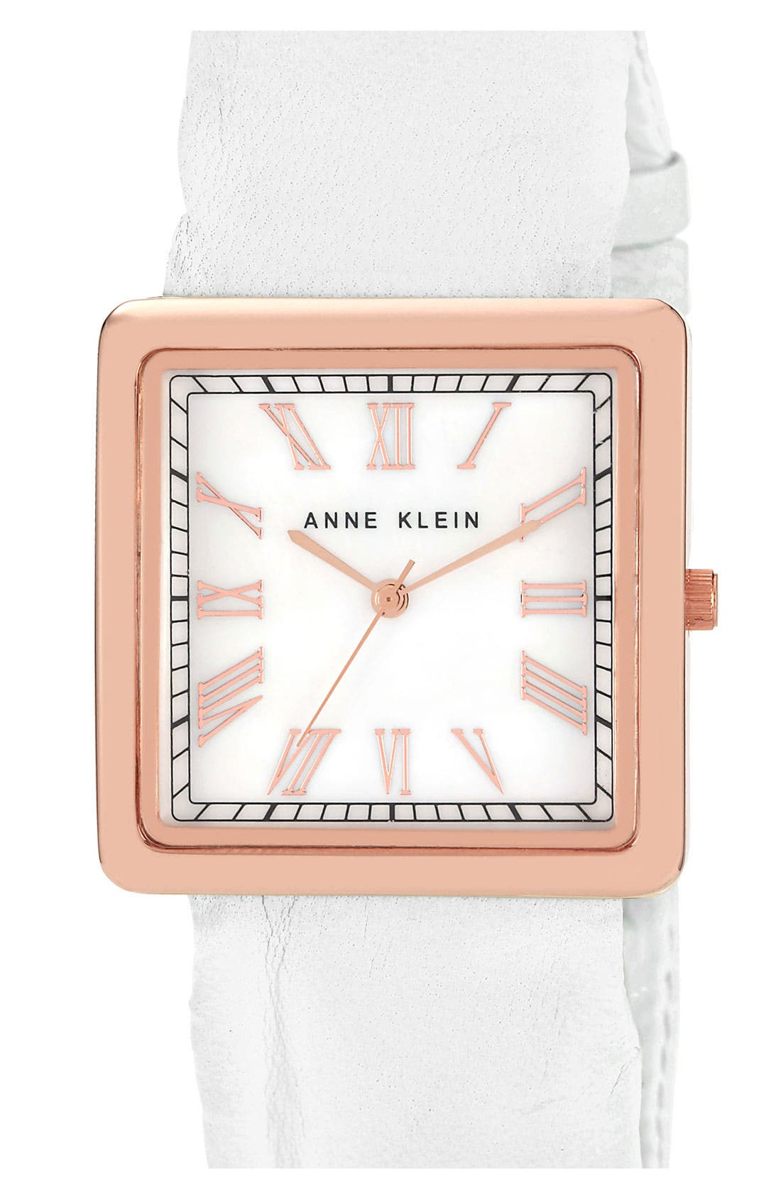 Alternate Image 1 Selected - Anne Klein Square Rose Gold Watch, 38mm