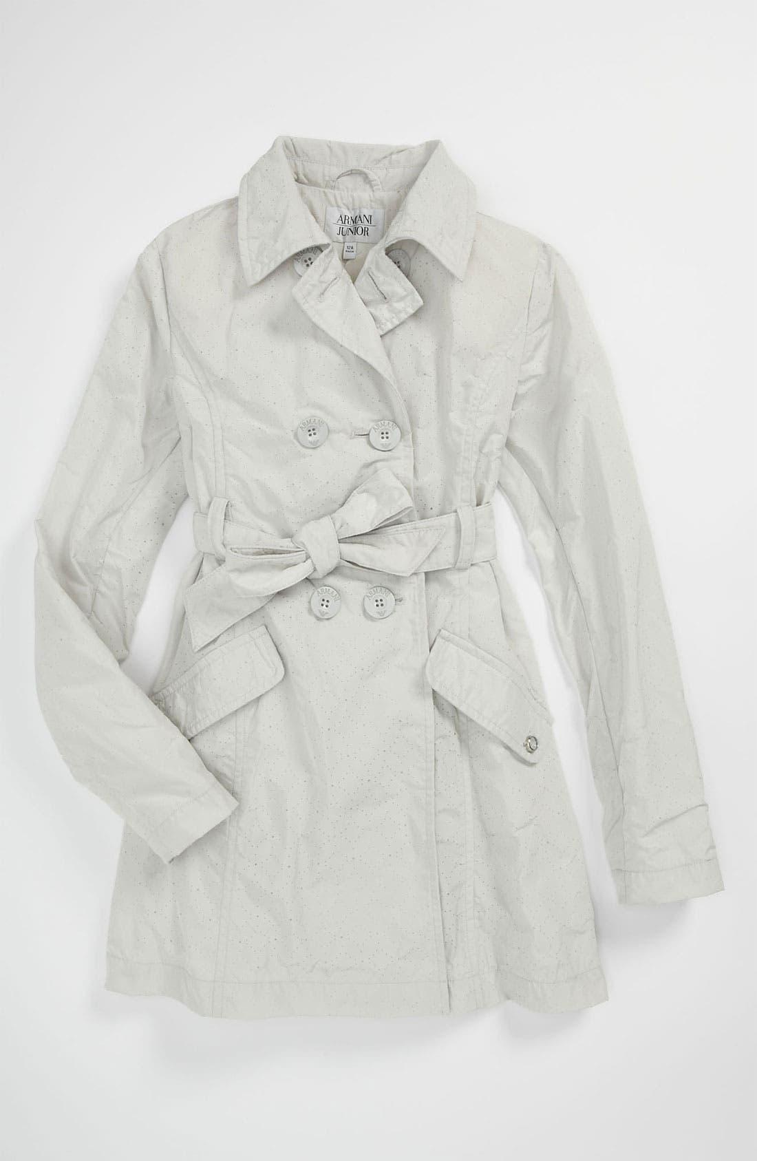 Main Image - Armani Junior Trench Coat (Big Girls)