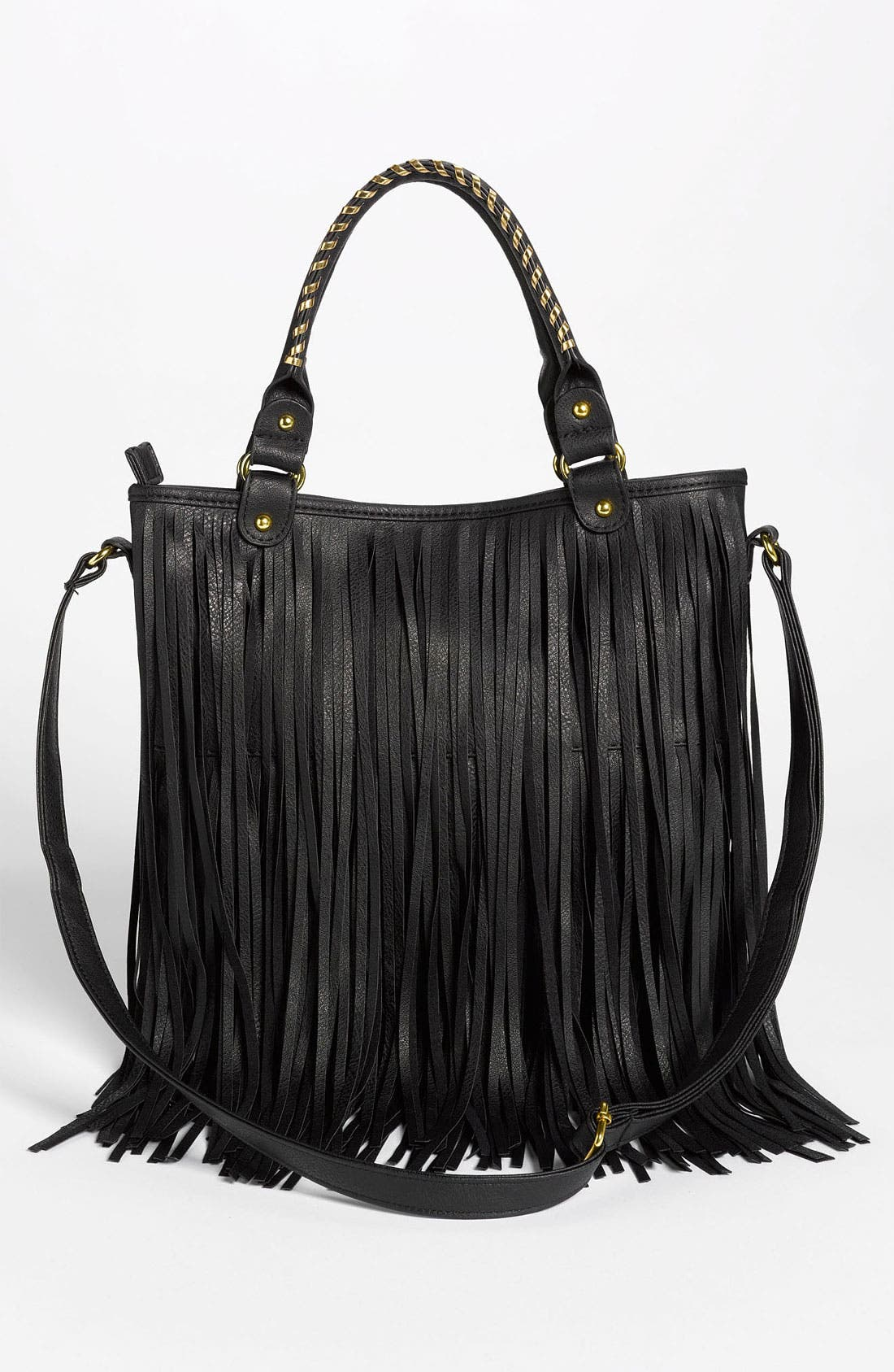 Alternate Image 4  - BP. Faux Leather Fringe Hobo Bag