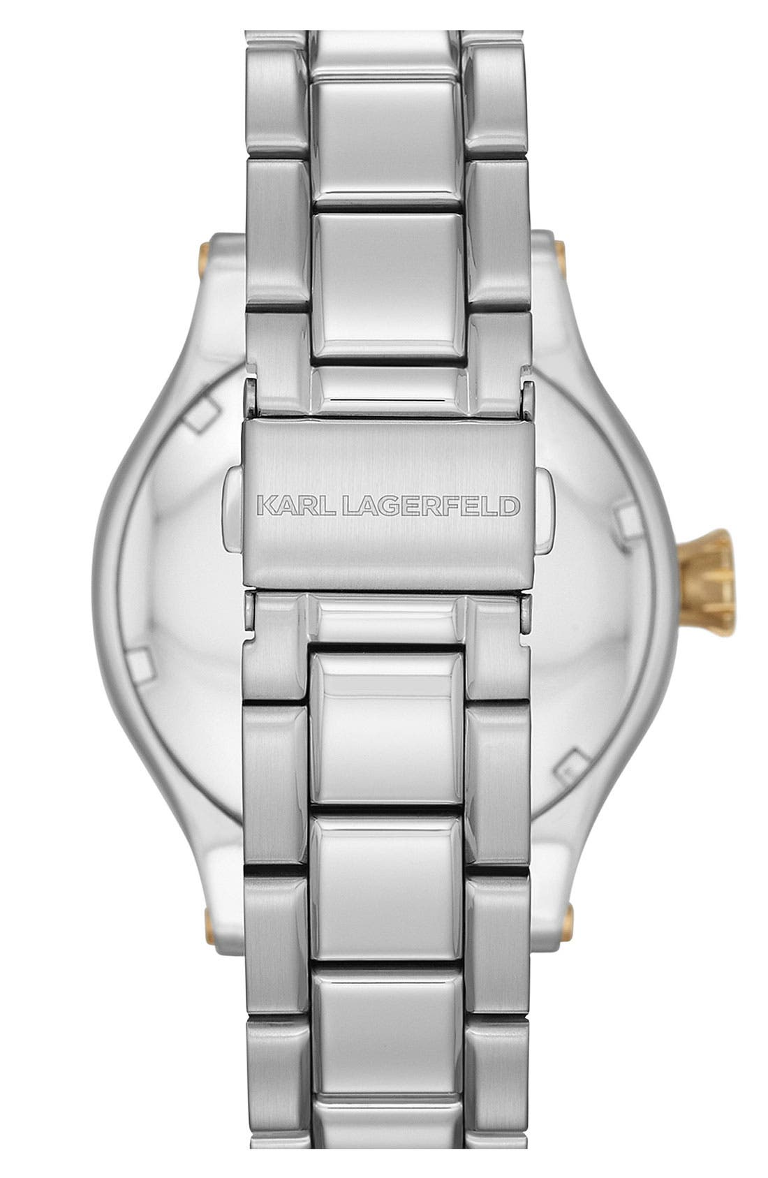 Alternate Image 3  - KARL LAGERFELD Chain Detail Bracelet Watch, 40mm