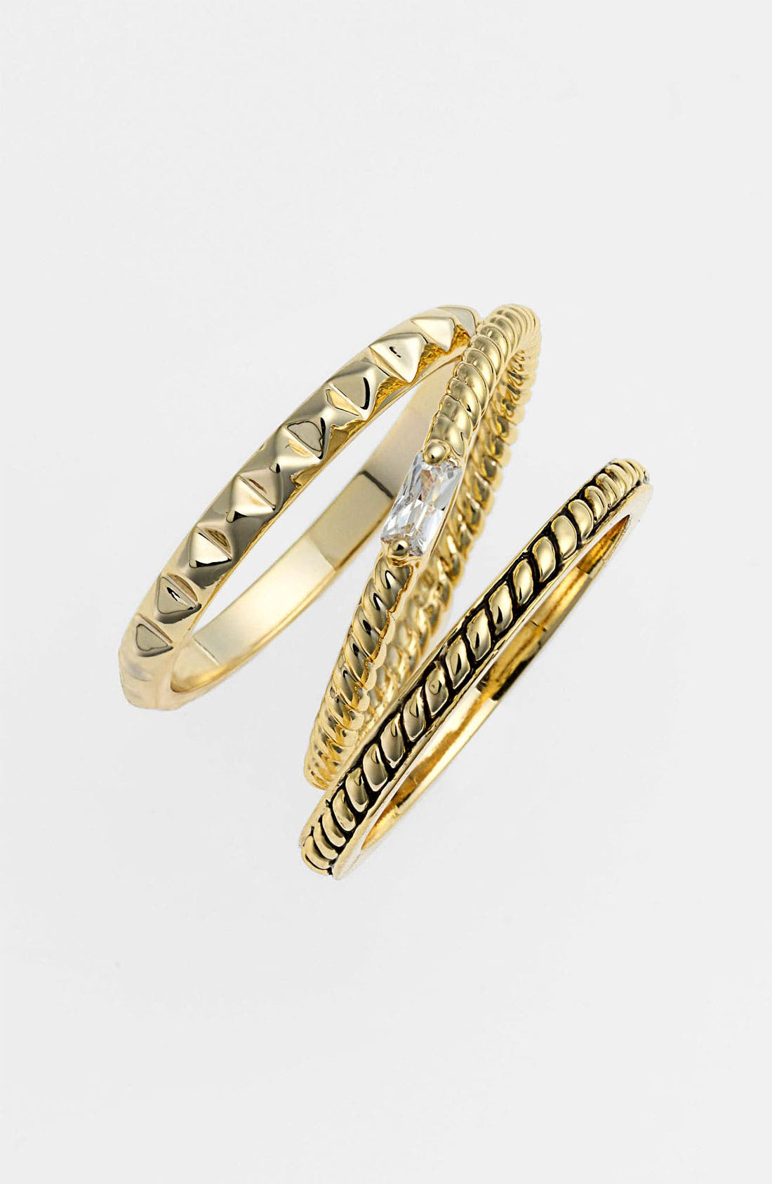Alternate Image 1 Selected - Ariella Collection Stackable Rings (Set of 3)