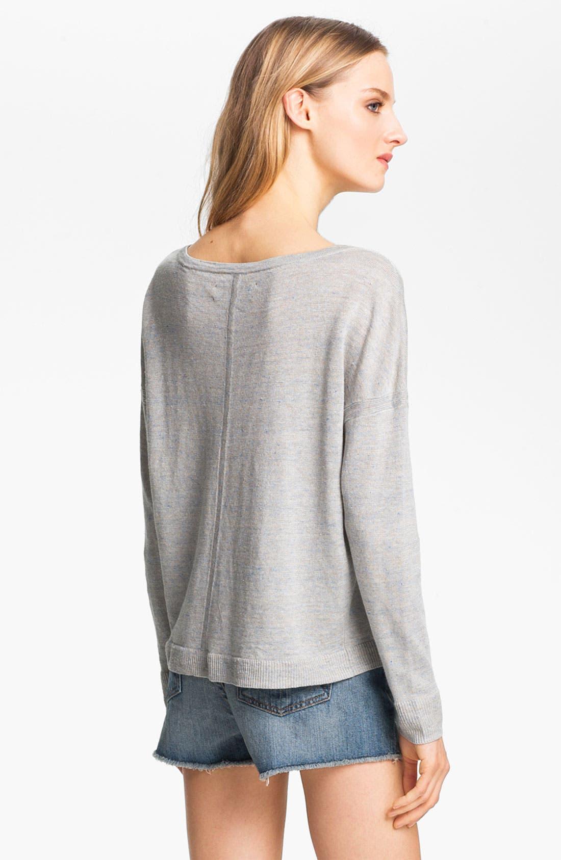 Alternate Image 3  - rag & bone 'Sander' Linen Pullover