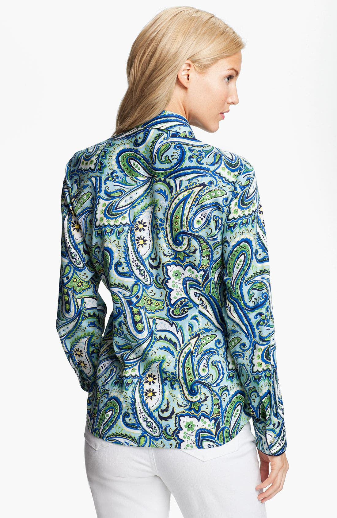 Alternate Image 2  - Foxcroft 'Marina Paisley' Shirt (Petite)