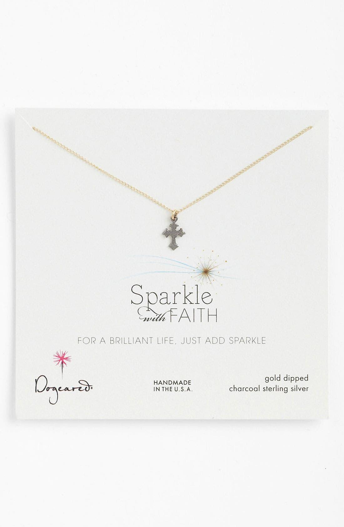 Alternate Image 1 Selected - Dogeared 'Sparkle like a Star' Cross Pendant Necklace