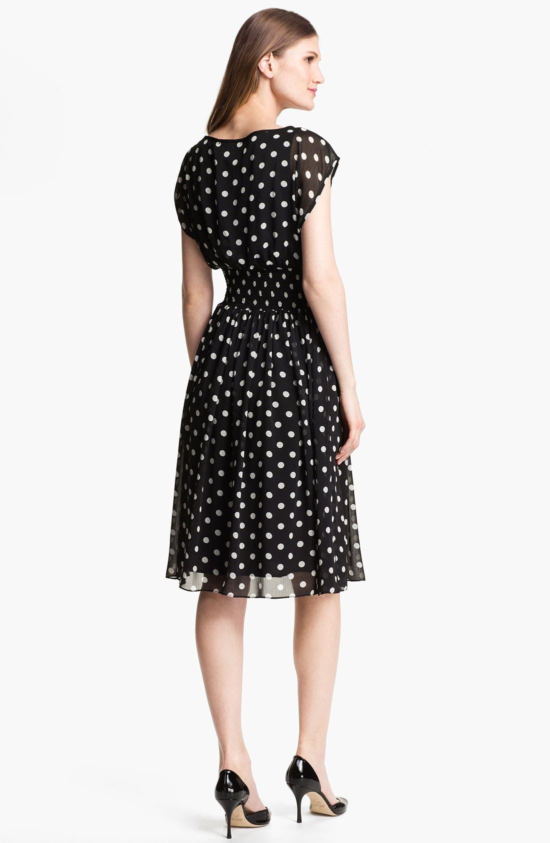 Alternate Image 2  - Isaac Mizrahi New York Polka Dot Chiffon Dress