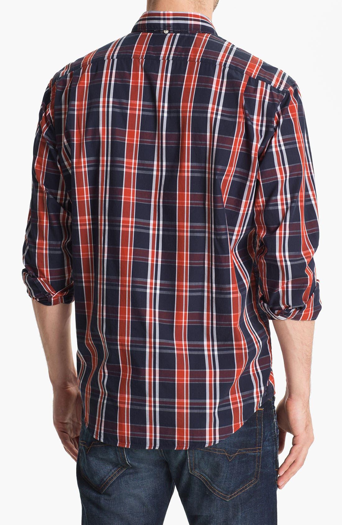 Alternate Image 2  - Lacoste Plaid Woven Shirt