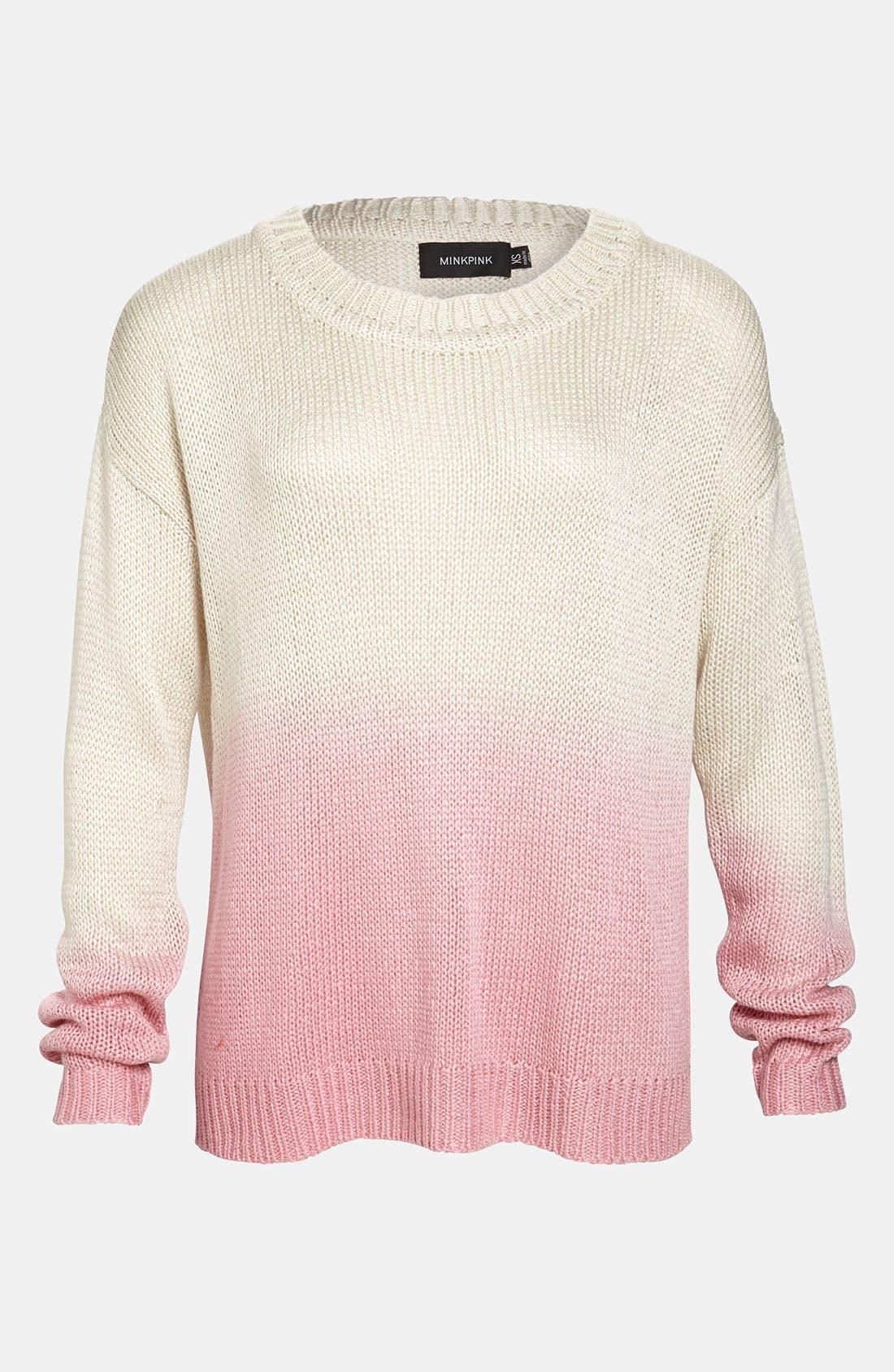 Alternate Image 1 Selected - MINKPINK 'Melting Moments' Dip Dye Sweater
