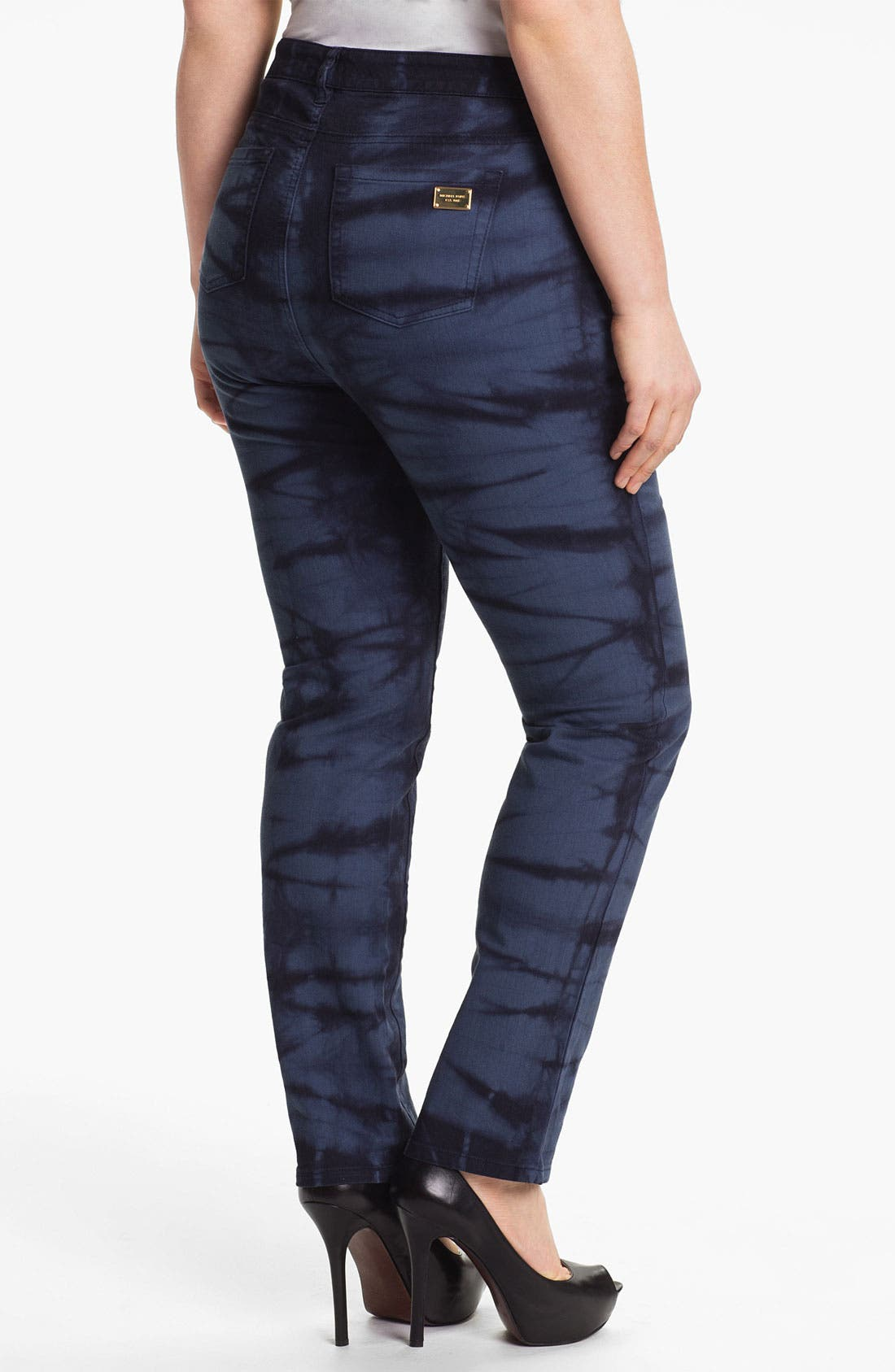 Alternate Image 2  - MICHAEL Michael Kors Print Skinny Jeans (Plus) (Online Only)