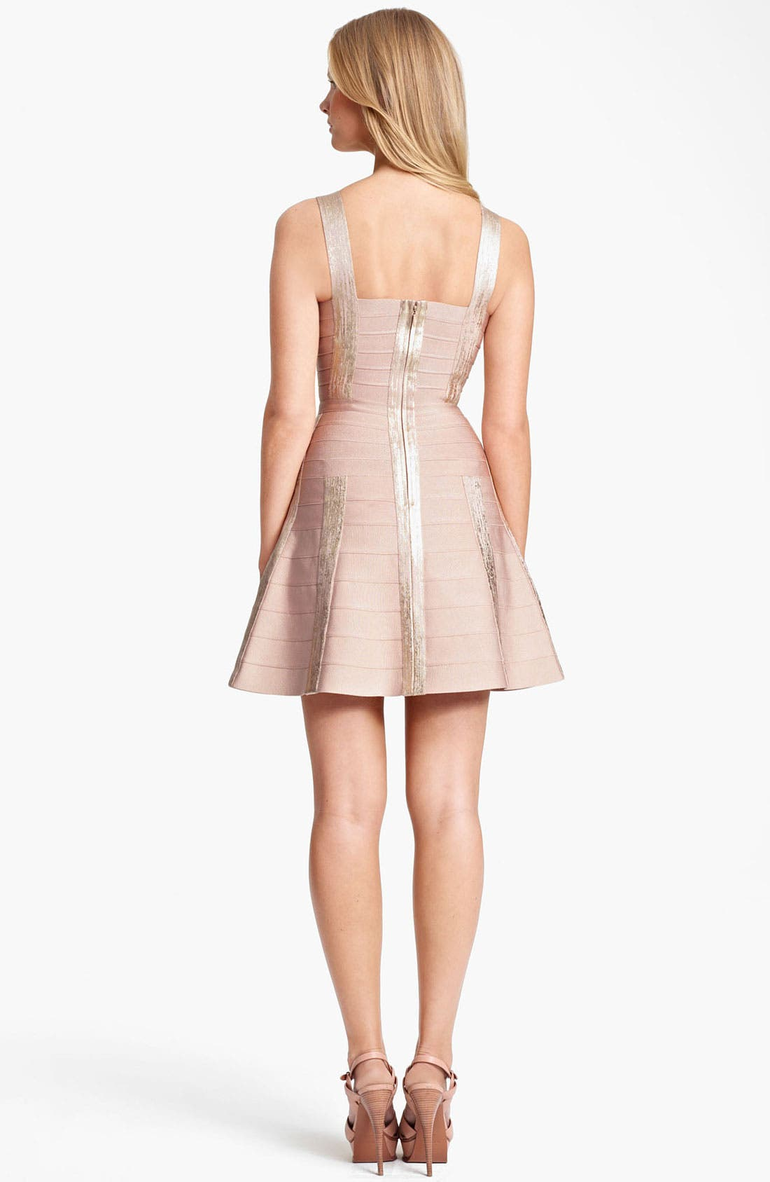 Alternate Image 2  - Herve Leger A-Line Bandage Dress