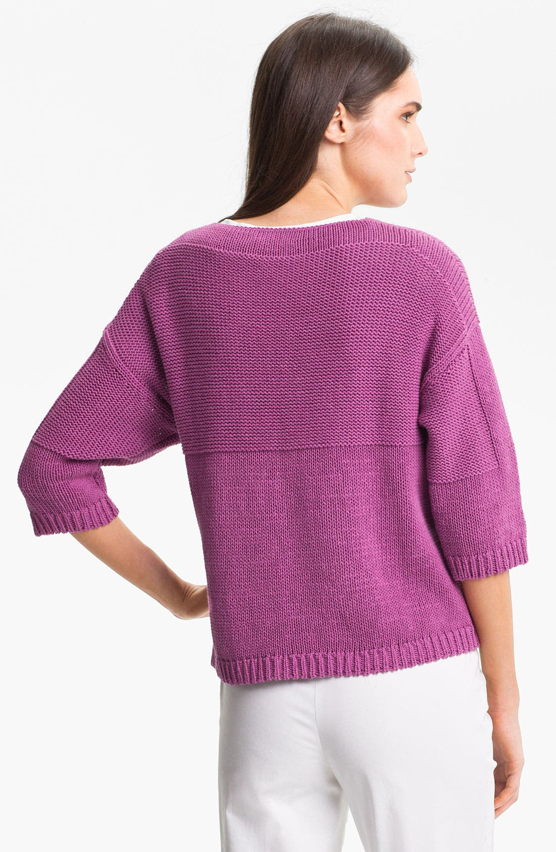 Alternate Image 2  - Lafayette 148 New York 'Essential' Cotton Blend Sweater