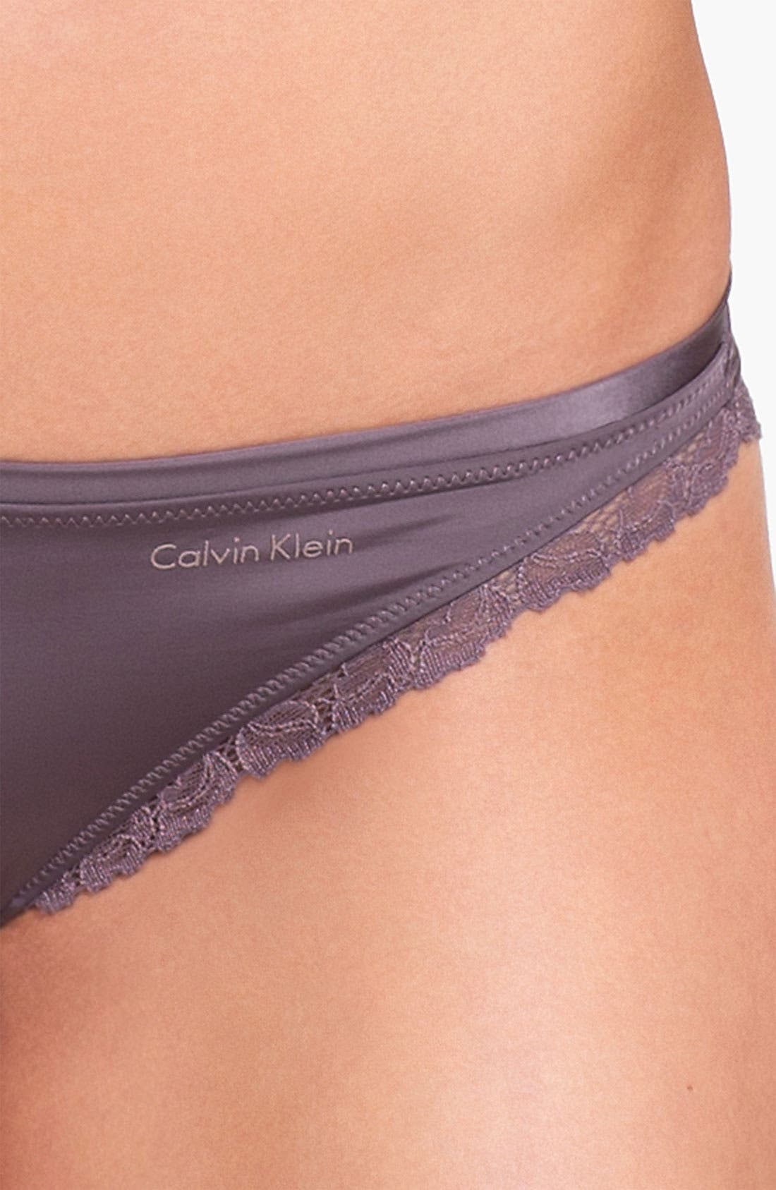 Alternate Image 3  - Calvin Klein 'Seductive Comfort' Lace Trim Bikini