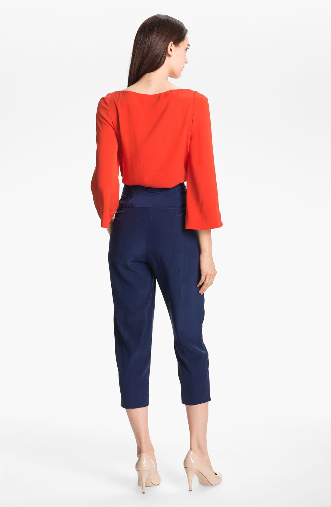 Alternate Image 5  - Diane von Furstenberg 'Keaka' Silk Capri Pants