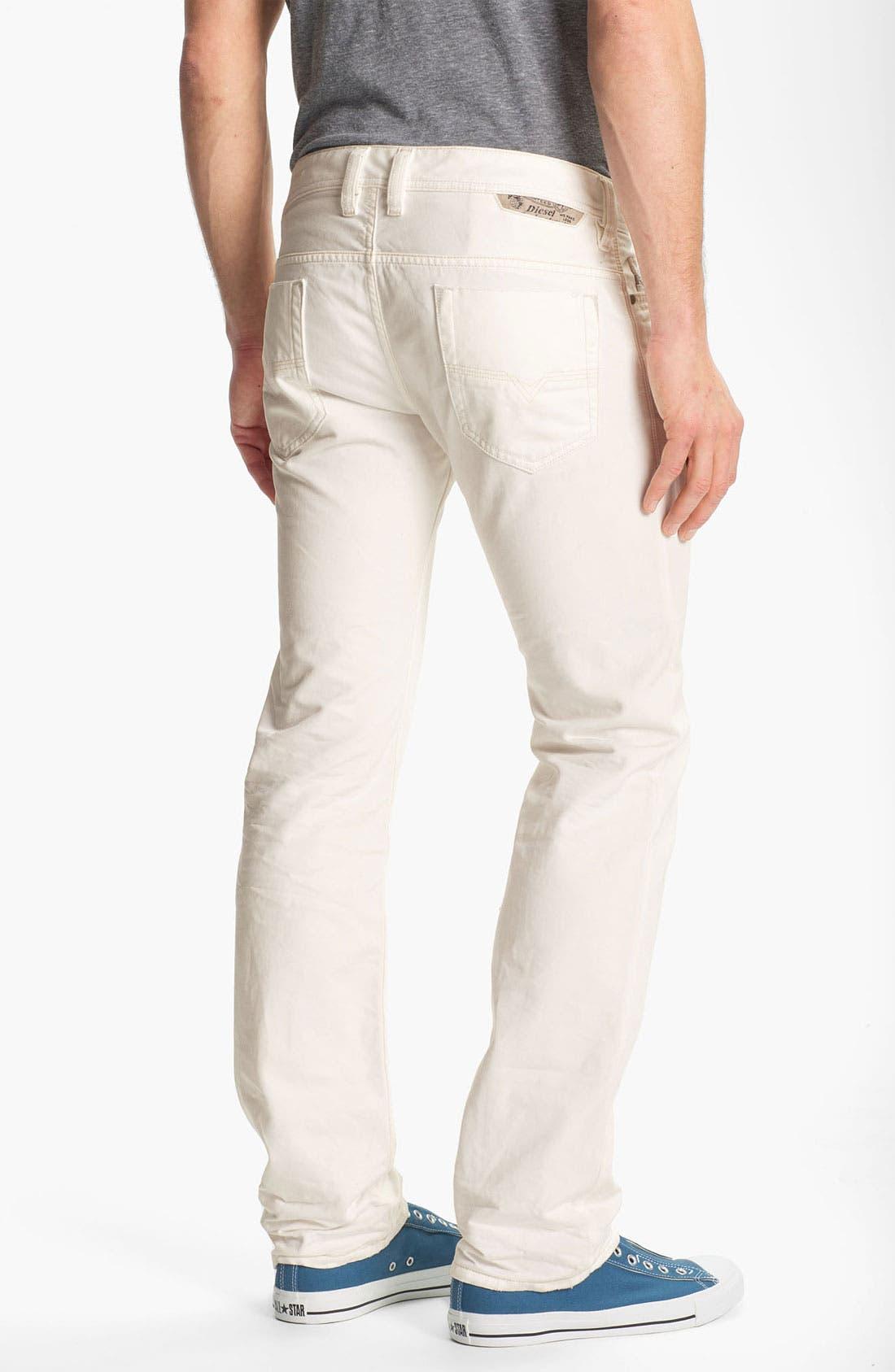 Main Image - DIESEL® 'Safado' Slim Fit Jeans (Pure White)