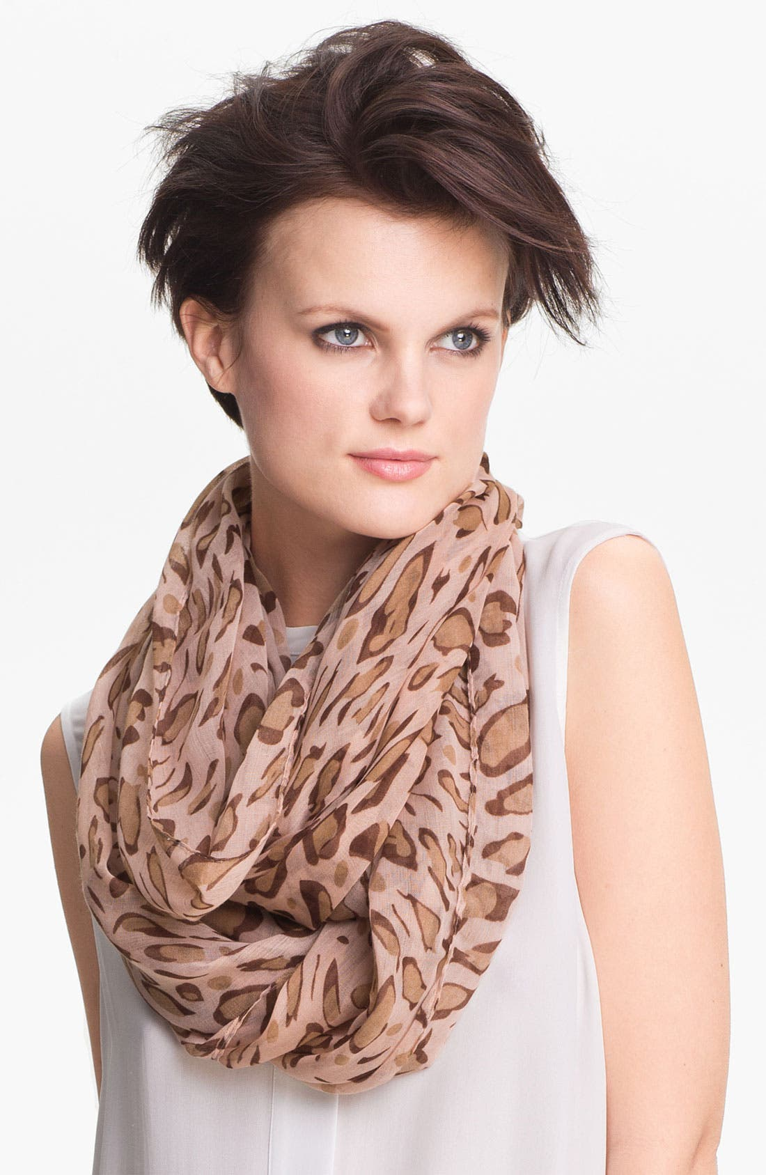 Main Image - Tasha Spotted Leopard Infinity Scarf