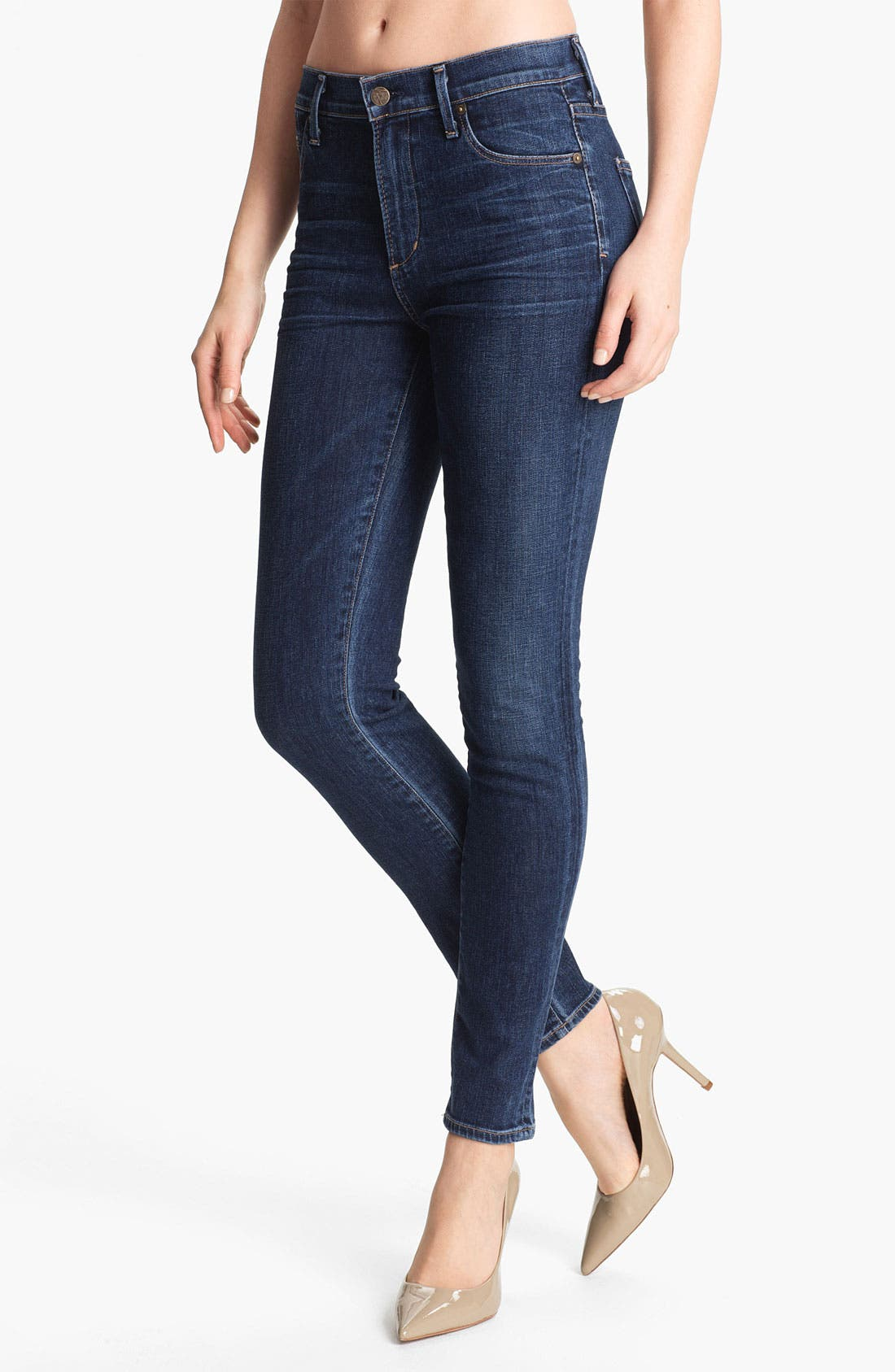 Alternate Image 1 Selected - Citizens of Humanity 'Rocket' High Rise Skinny Jeans (Crispy)