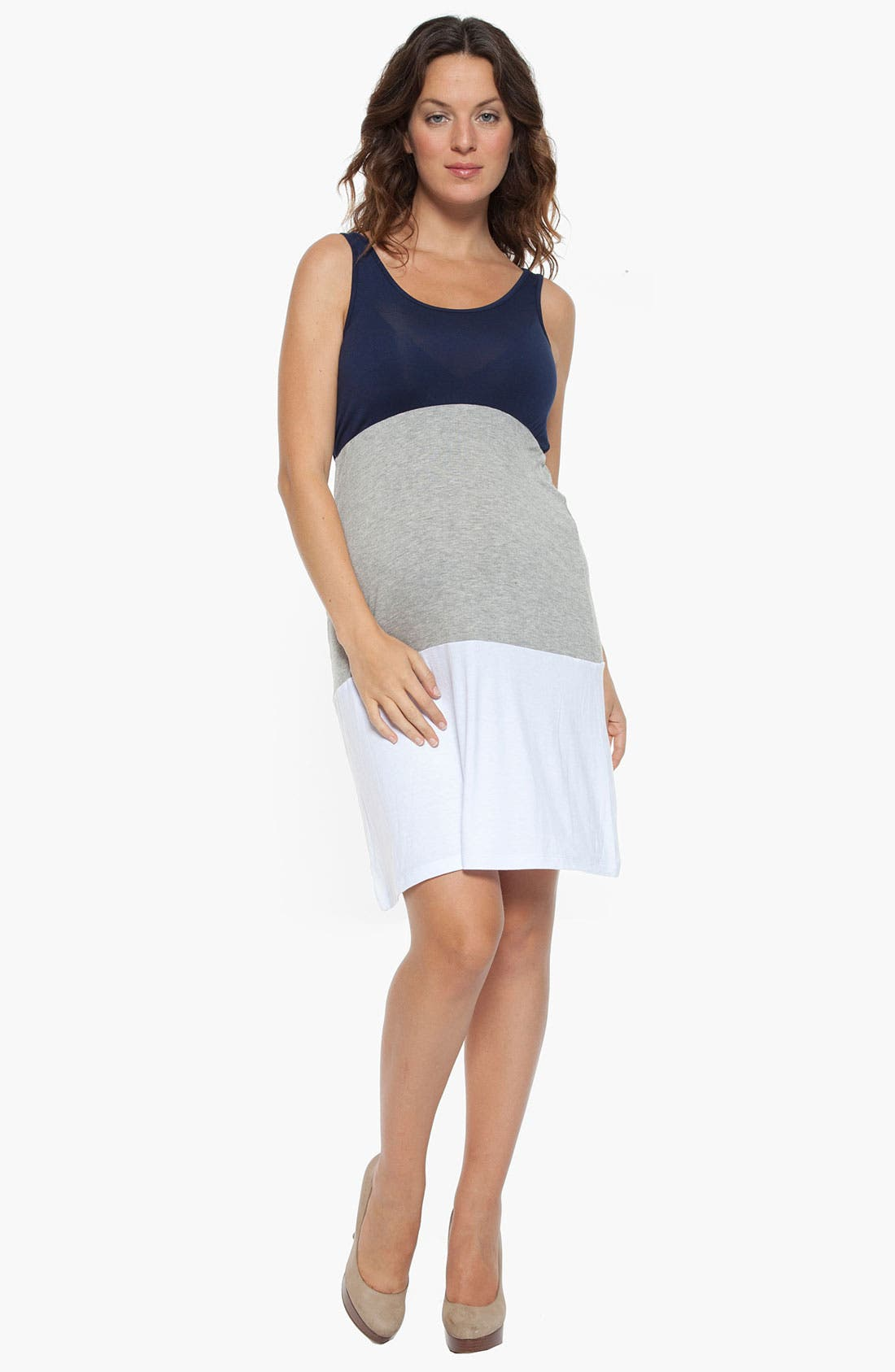 Alternate Image 1 Selected - Nom Maternity 'Cece' Maternity Tank Dress