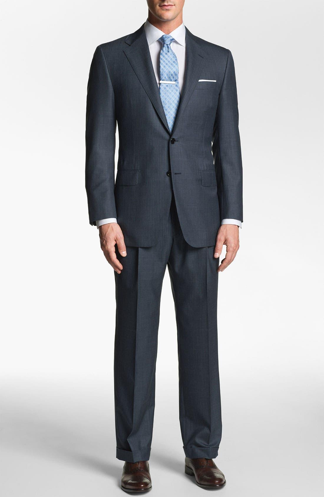 Alternate Image 1 Selected - Hickey Freeman 'Addison' Stripe Suit