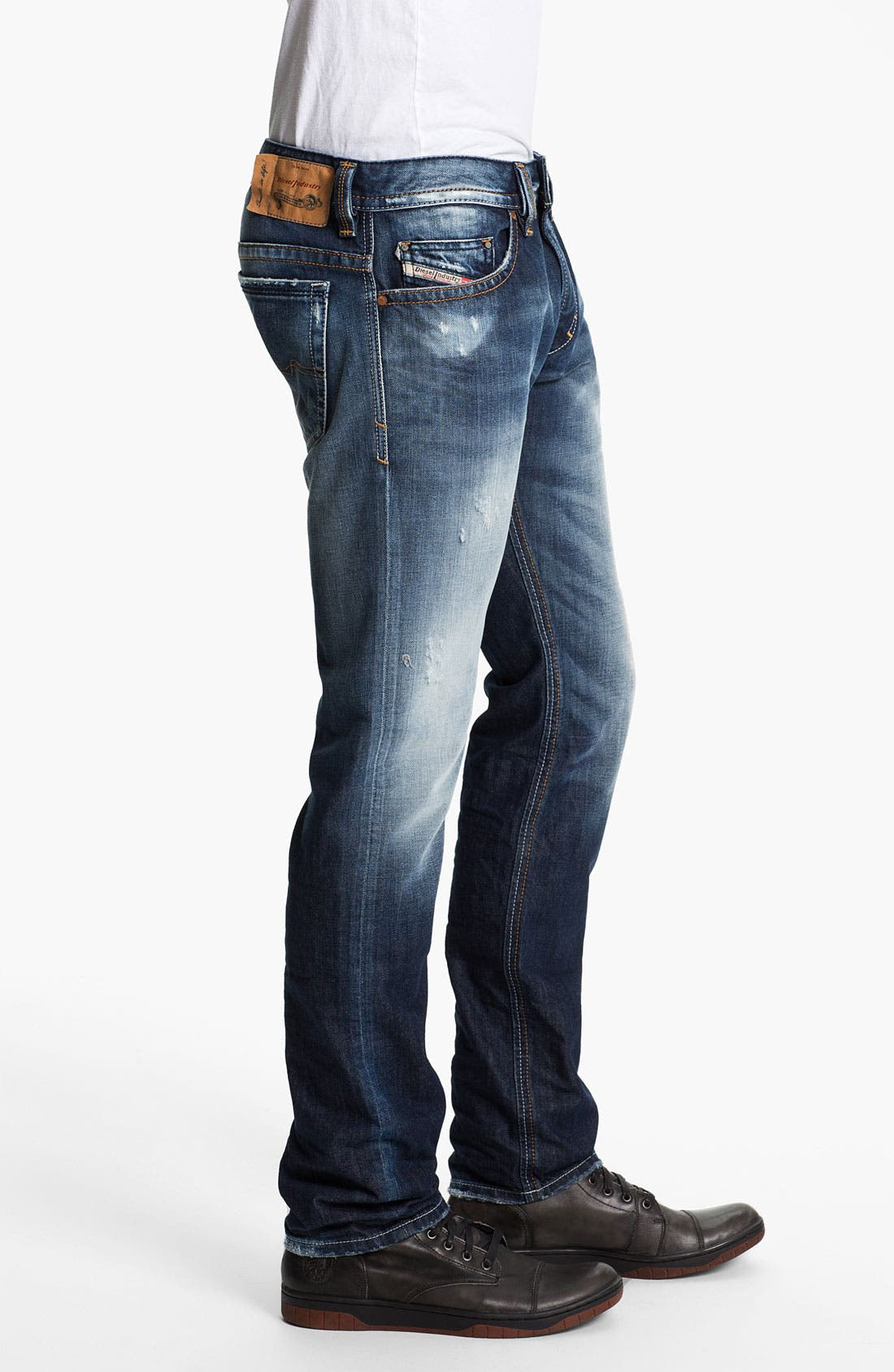 Alternate Image 3  - DIESEL® 'Thavar' Skinny Fit Jeans (0810L)