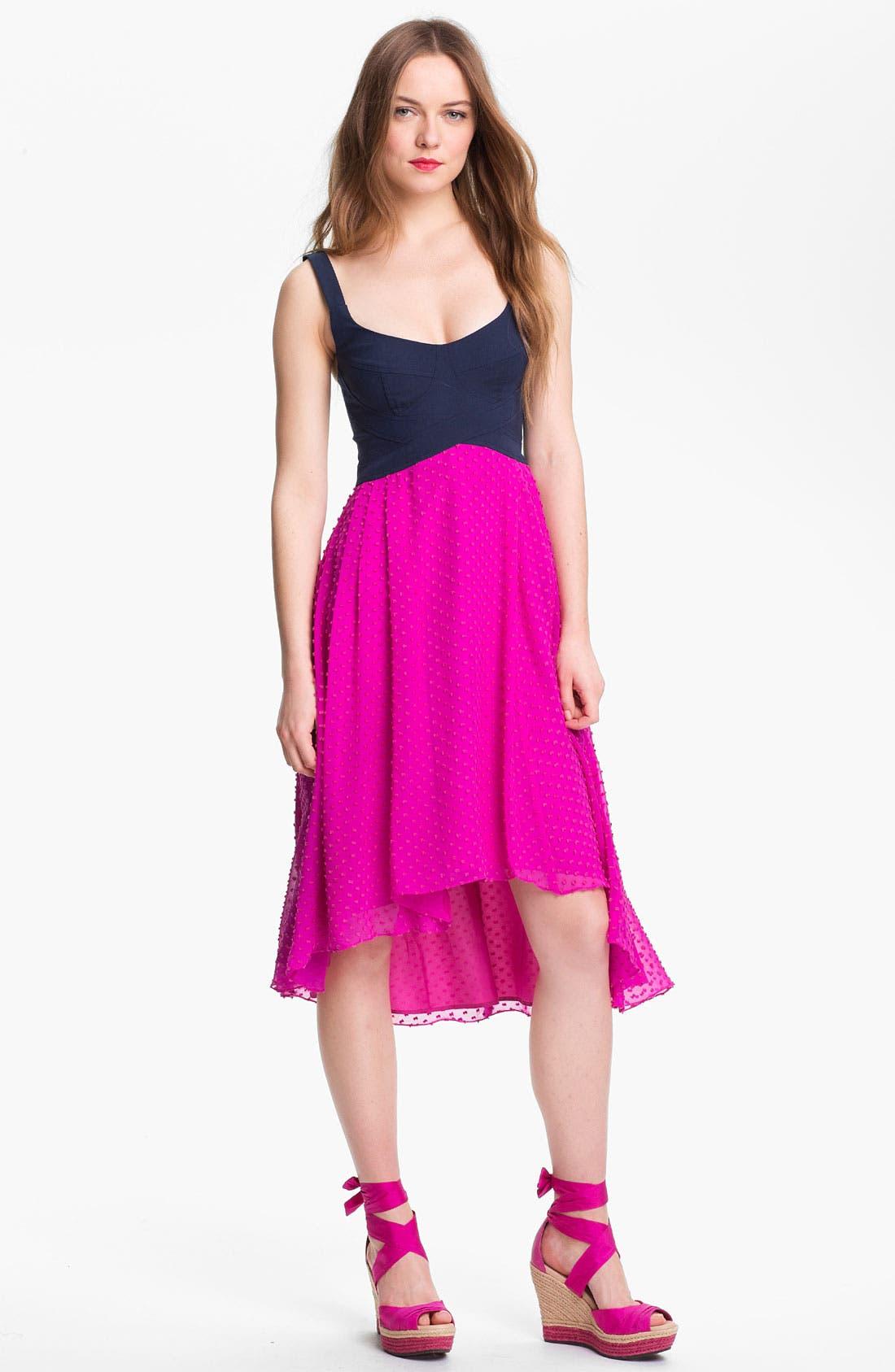 Main Image - Nanette Lepore 'Mermaid' Multi Media Fit & Flare Dress