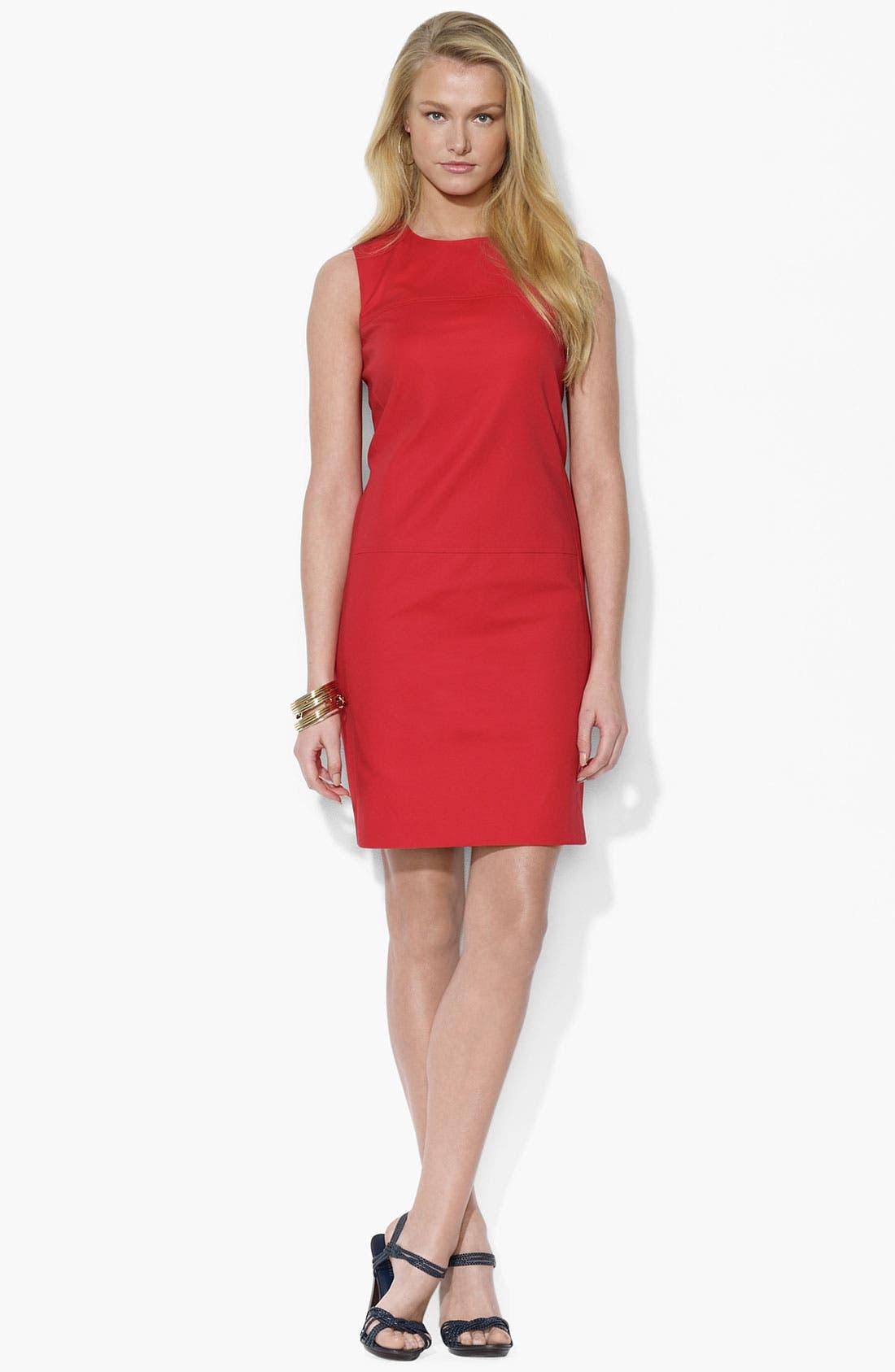 Alternate Image 1 Selected - Lauren Ralph Lauren Crewneck Shift Dress