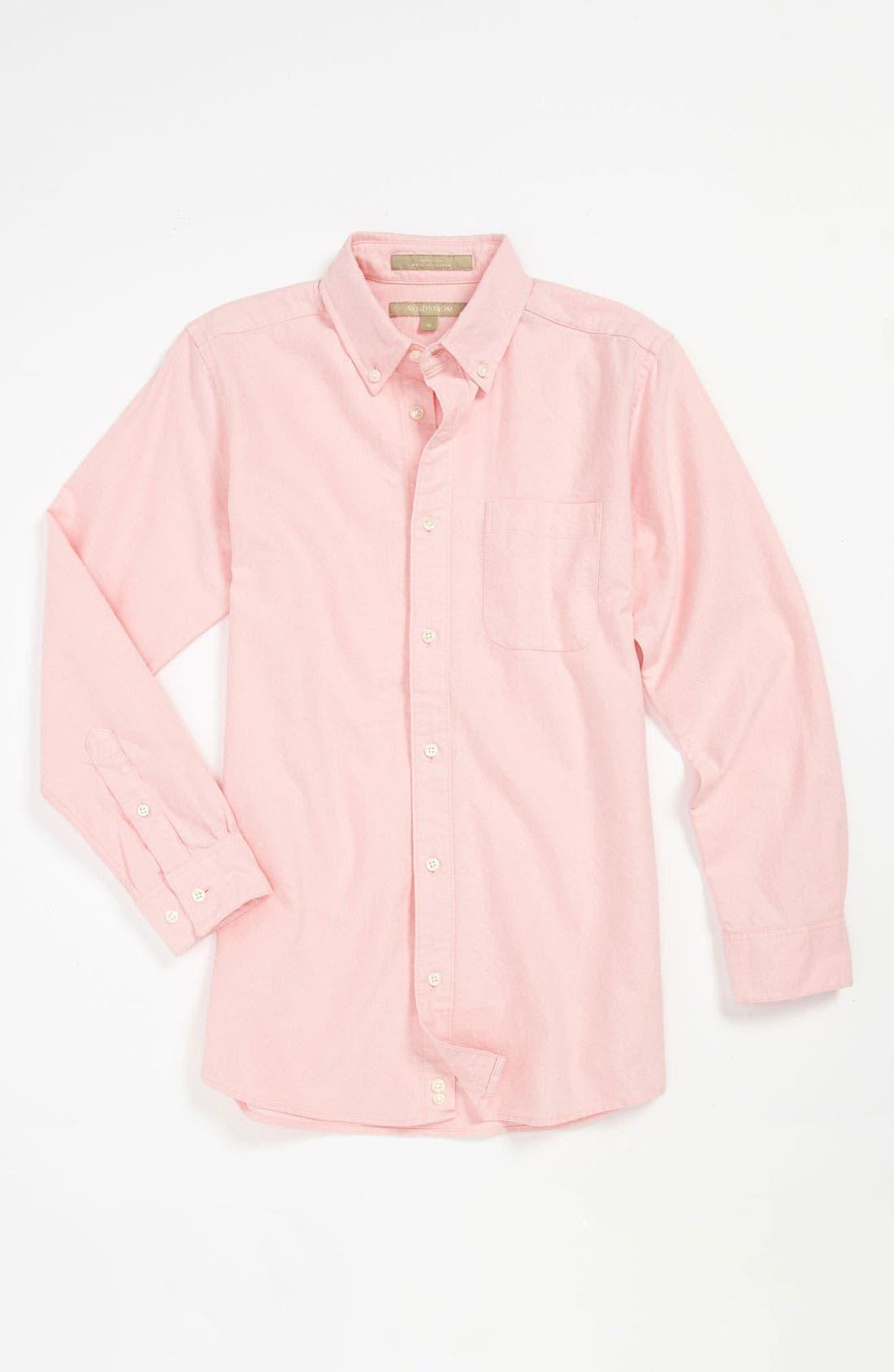 Main Image - Nordstrom 'Michael' Woven Oxford Shirt (Little Boys)