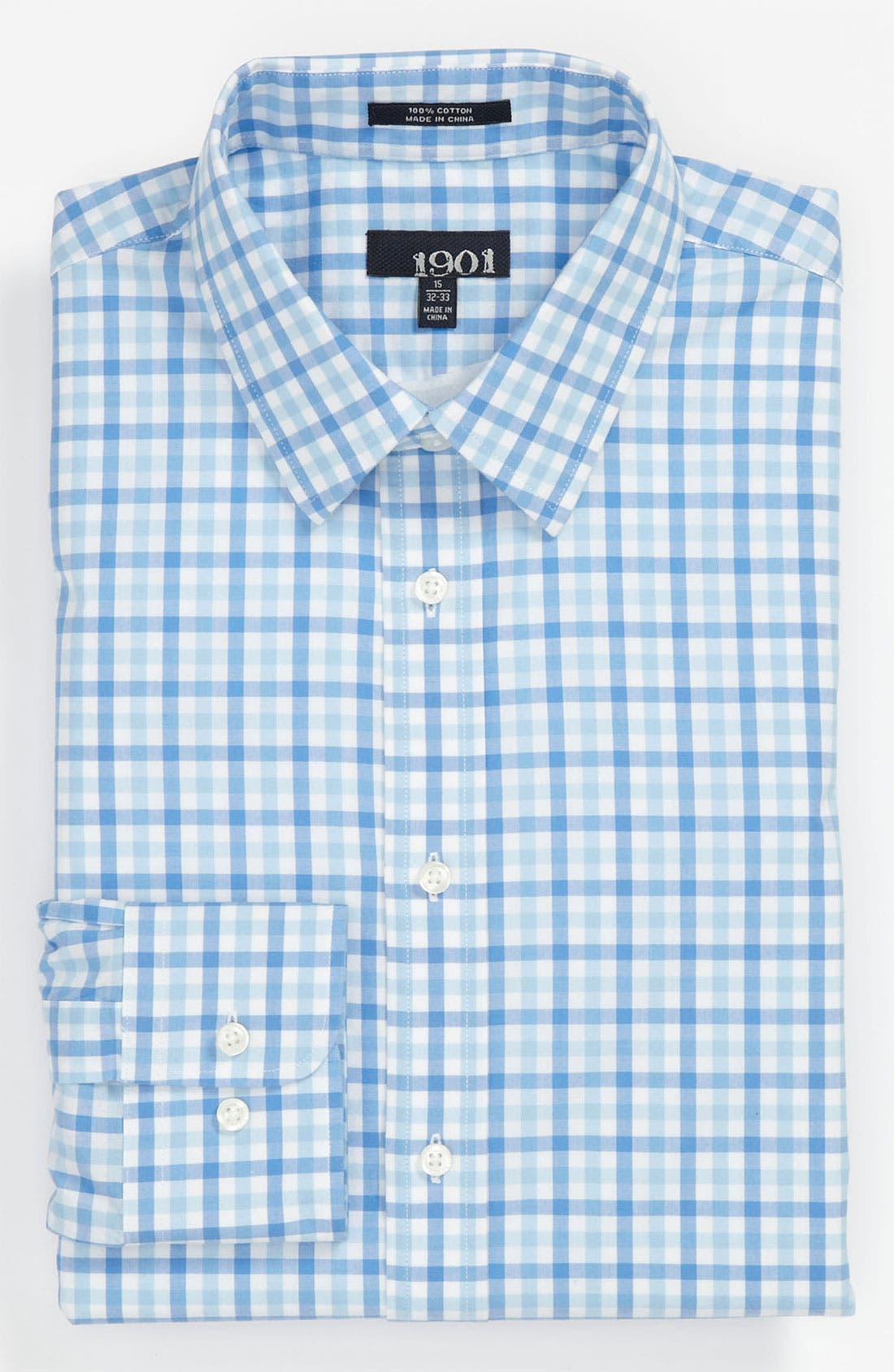 Main Image - 1901 Trim Fit Cotton Dress Shirt