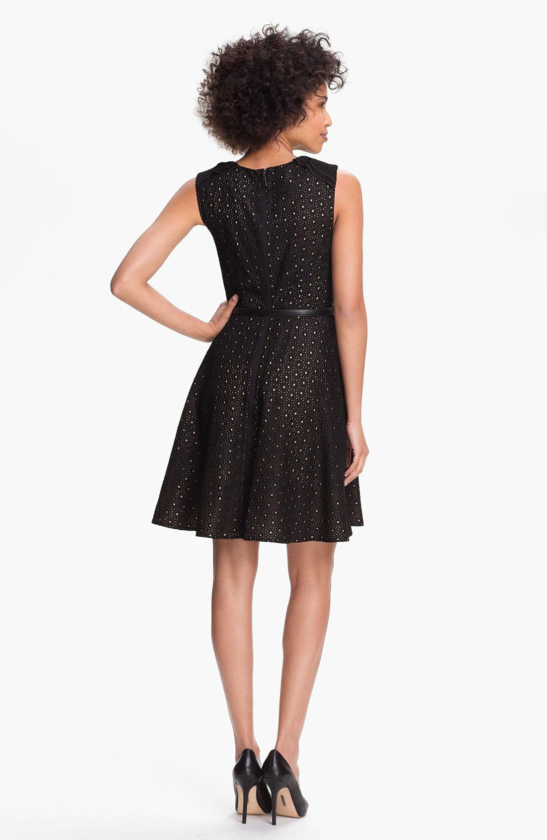 Alternate Image 2  - Vince Camuto Lace Fit & Flare Dress