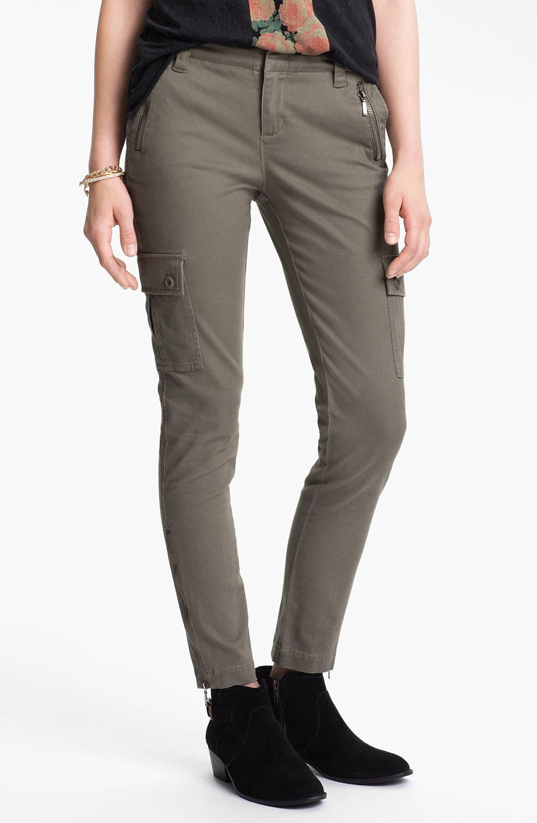 Main Image - Fire Skinny Utility Pants (Juniors)