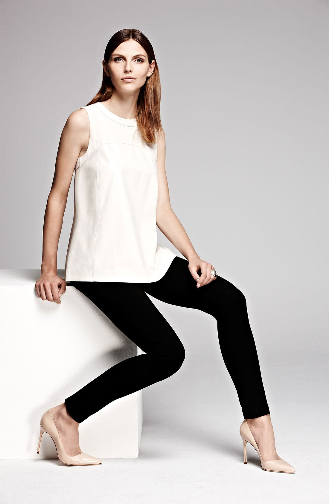 Alternate Image 6  - Lafayette 148 New York Matte Jersey Slim Pants