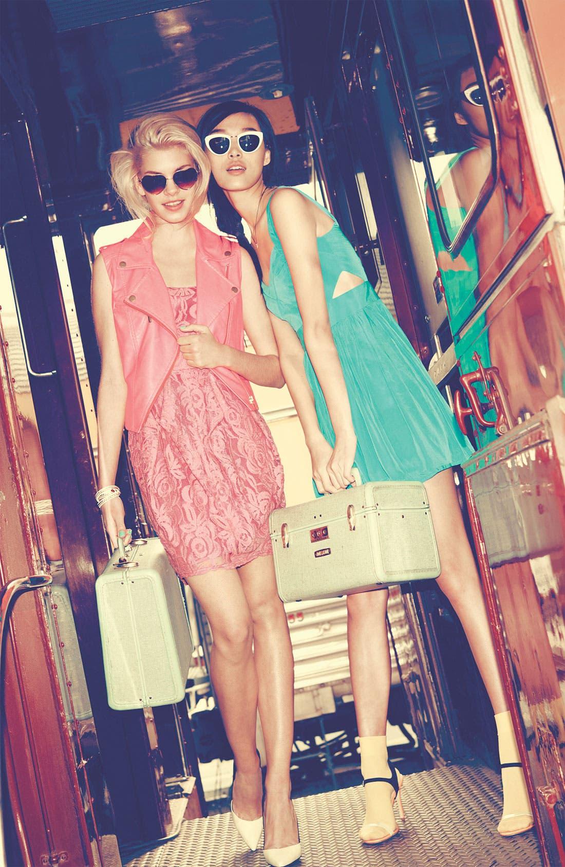 Main Image - Jessica Simpson Dress & ASTR Faux Leather Vest