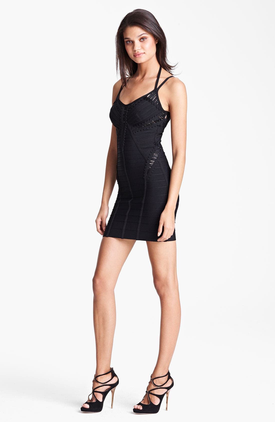 Alternate Image 1 Selected - Herve Leger Halter Strap Bandage Dress