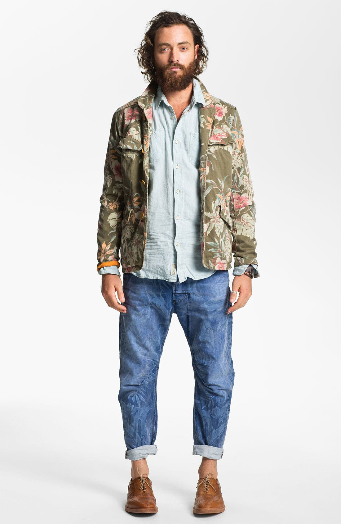 Alternate Image 4  - Scotch & Soda Linen & Cotton Shirt