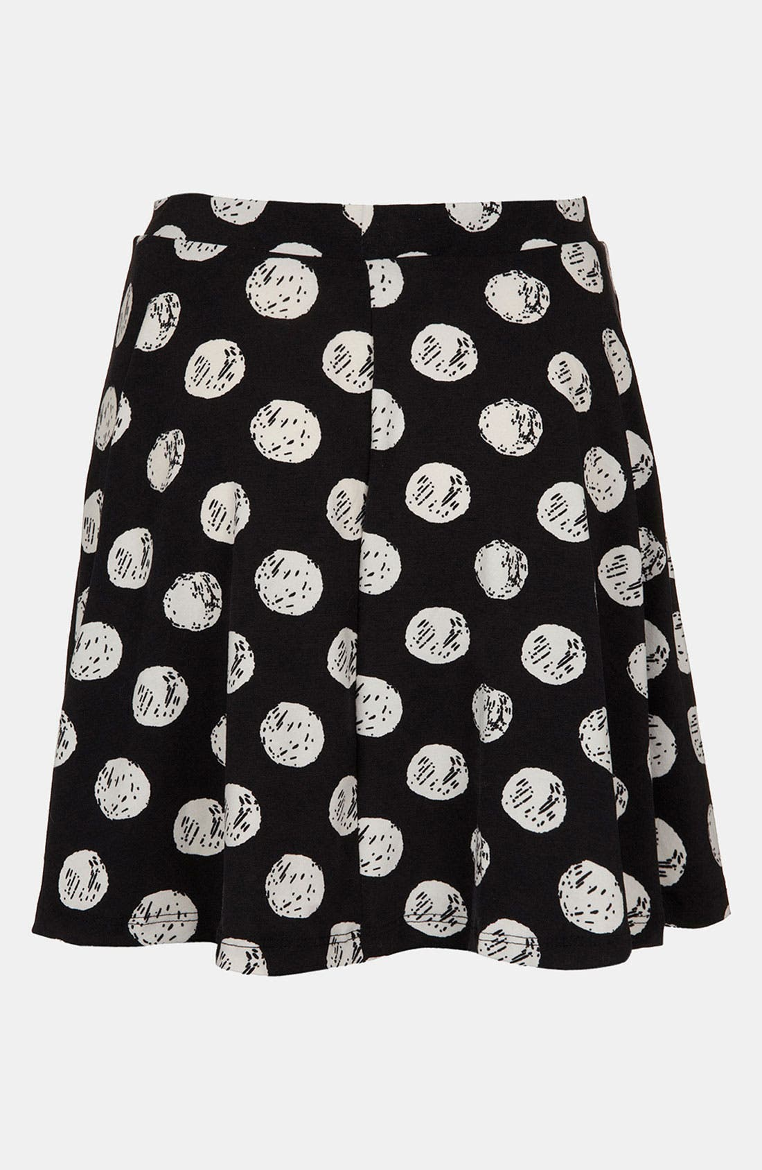 Main Image - Topshop Polka Dot Print Skater Skirt (Regular & Petite)